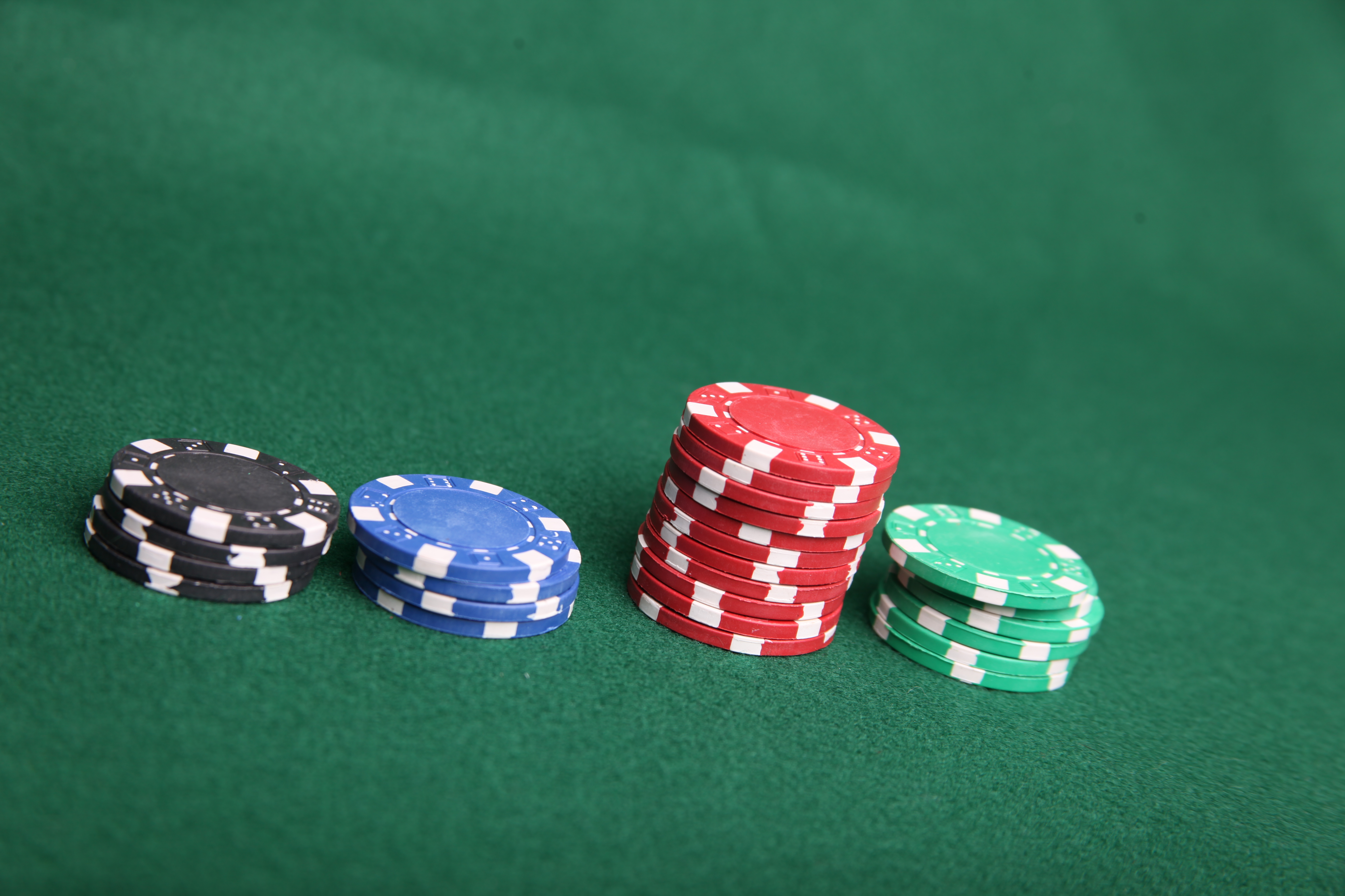 Poker chip stacks, Bet, Black, Blue, Chip, HQ Photo