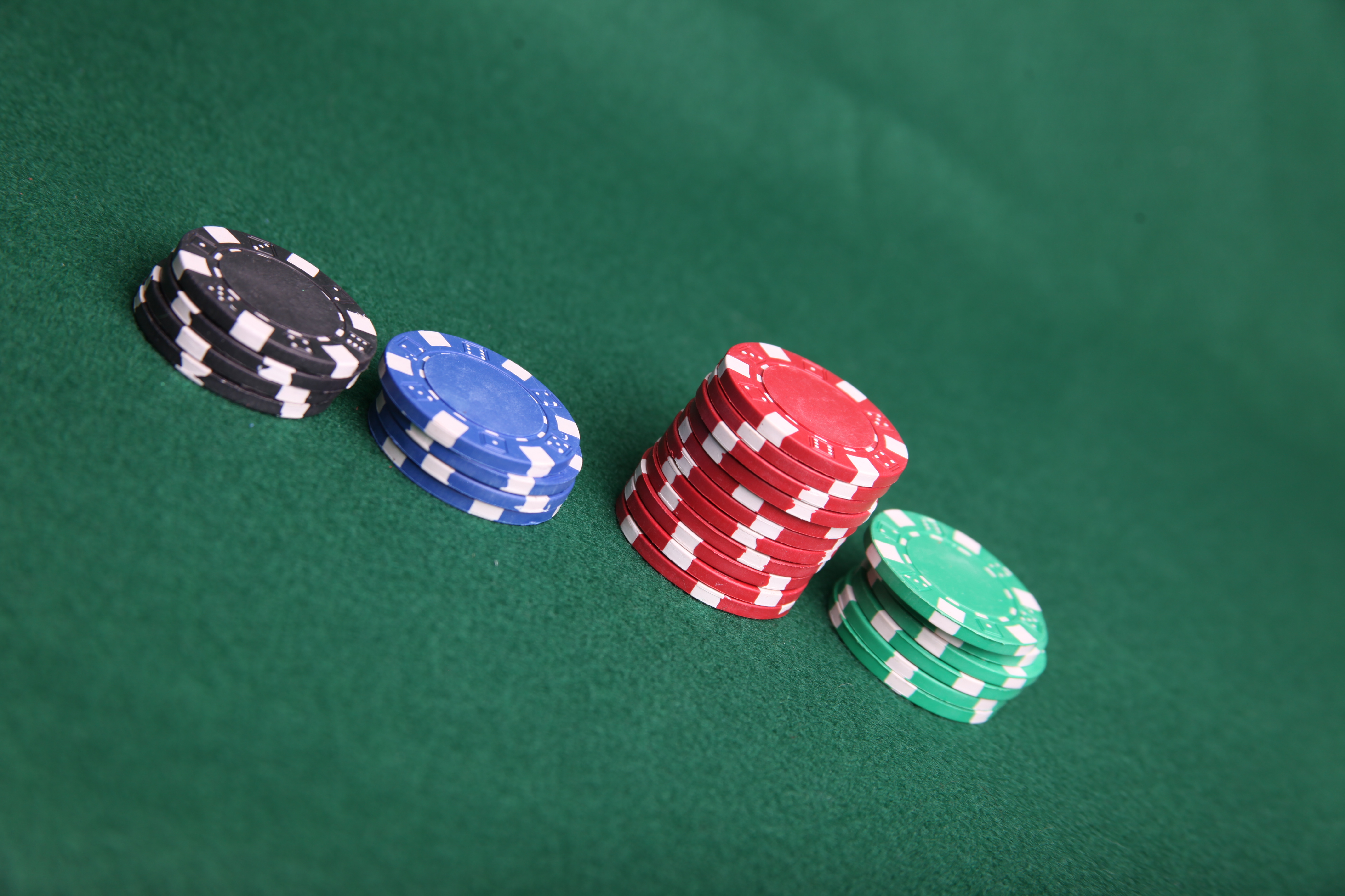 Poker chip stacks, Bet, Black, Blue, Chip, HQ Photo