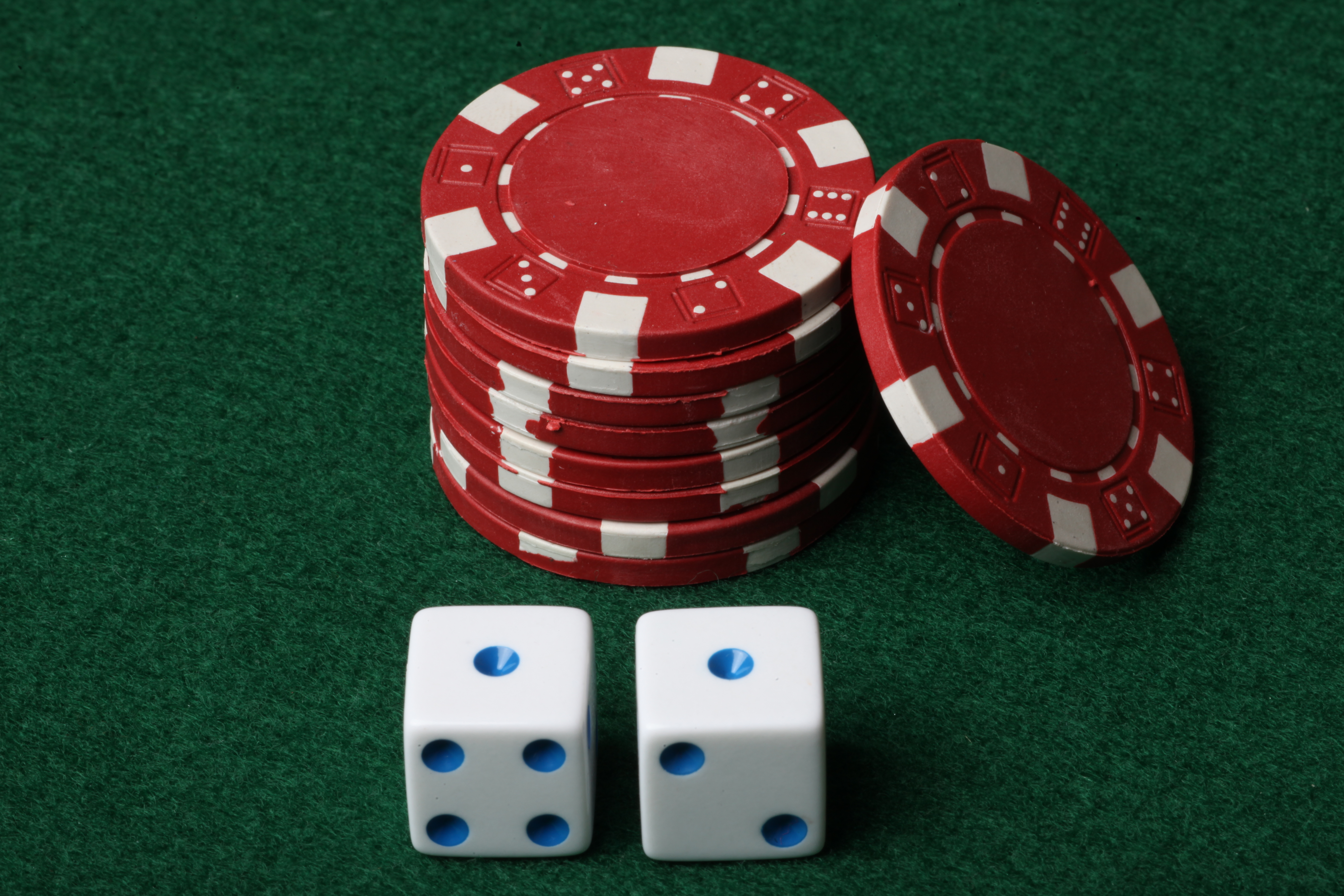 Poker chips and Dice, Bet, Las, Vegas, Table, HQ Photo