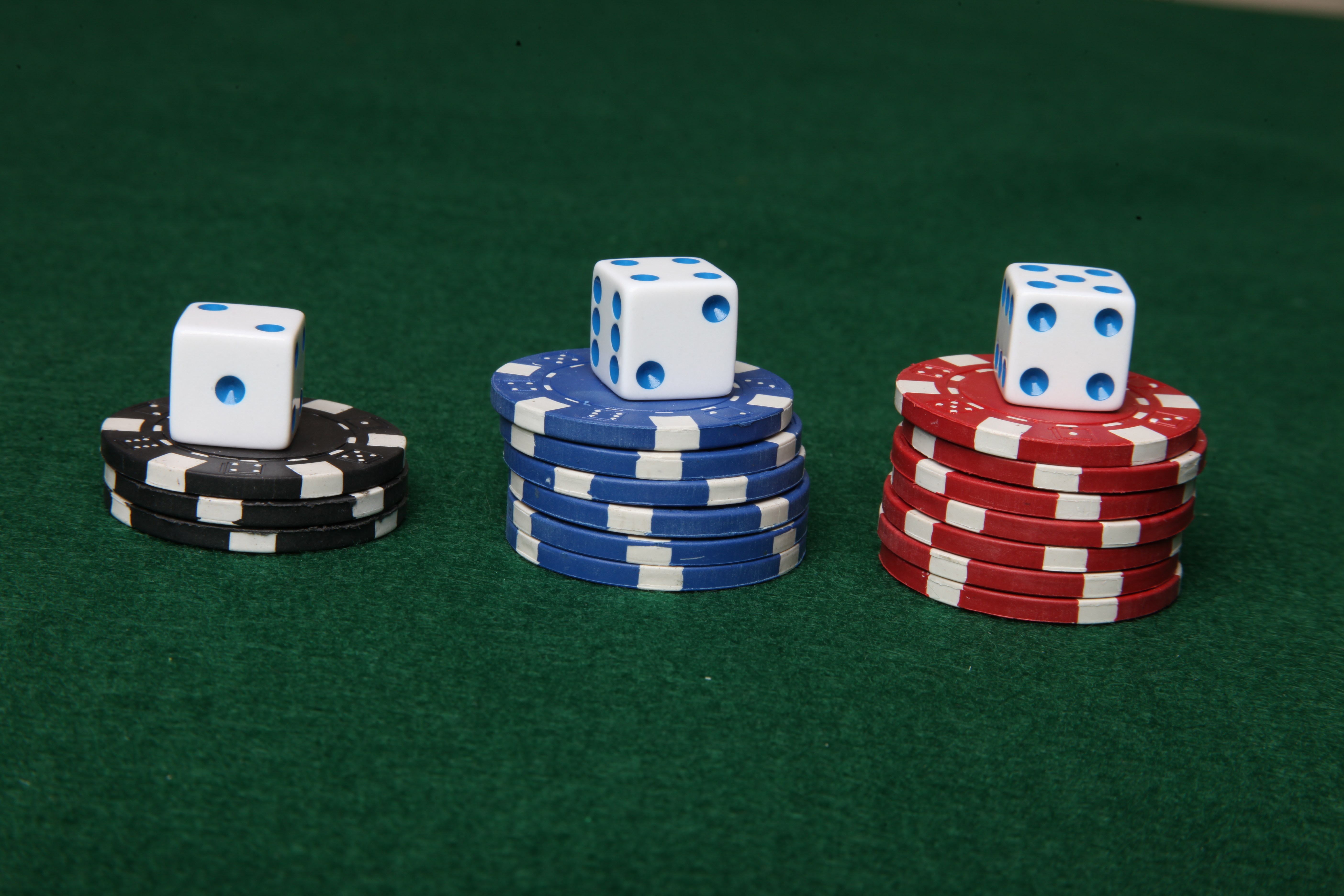 Poker chips and dice., Reward, Poker, Las, Risk, HQ Photo