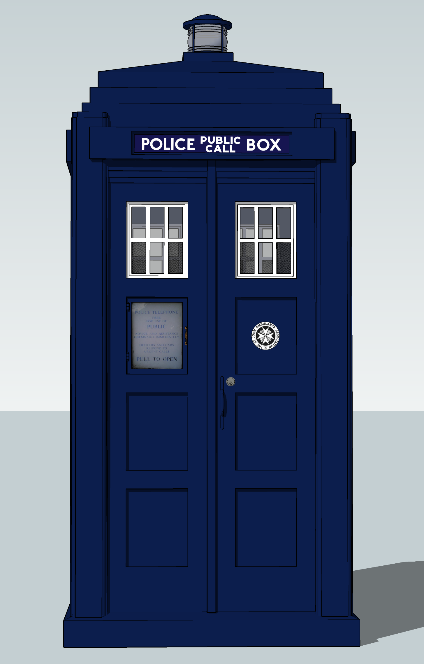 Sketchup Police Boxes