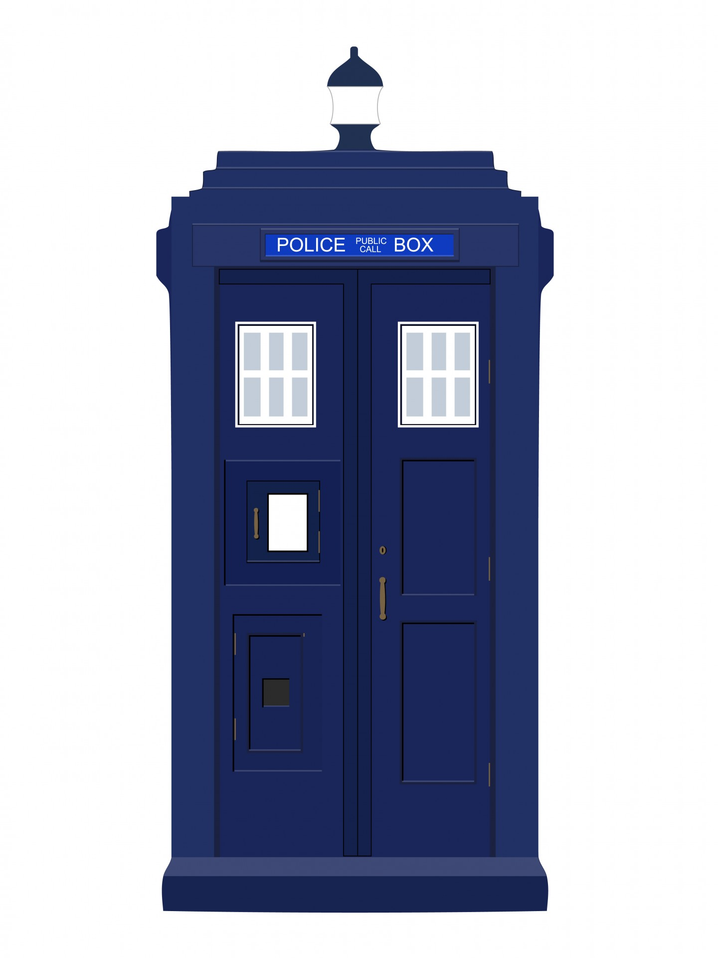 Blue Police Box Clipart Free Stock Photo - Public Domain Pictures