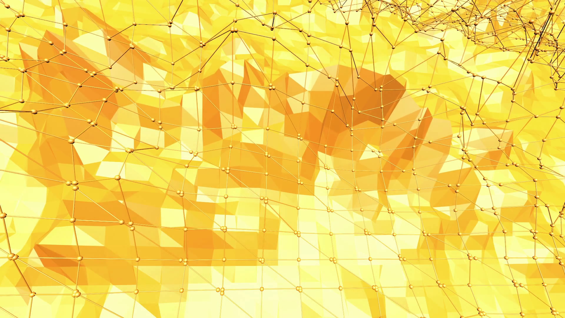 Yellow low poly background pulsating. Abstract low poly surface as ...