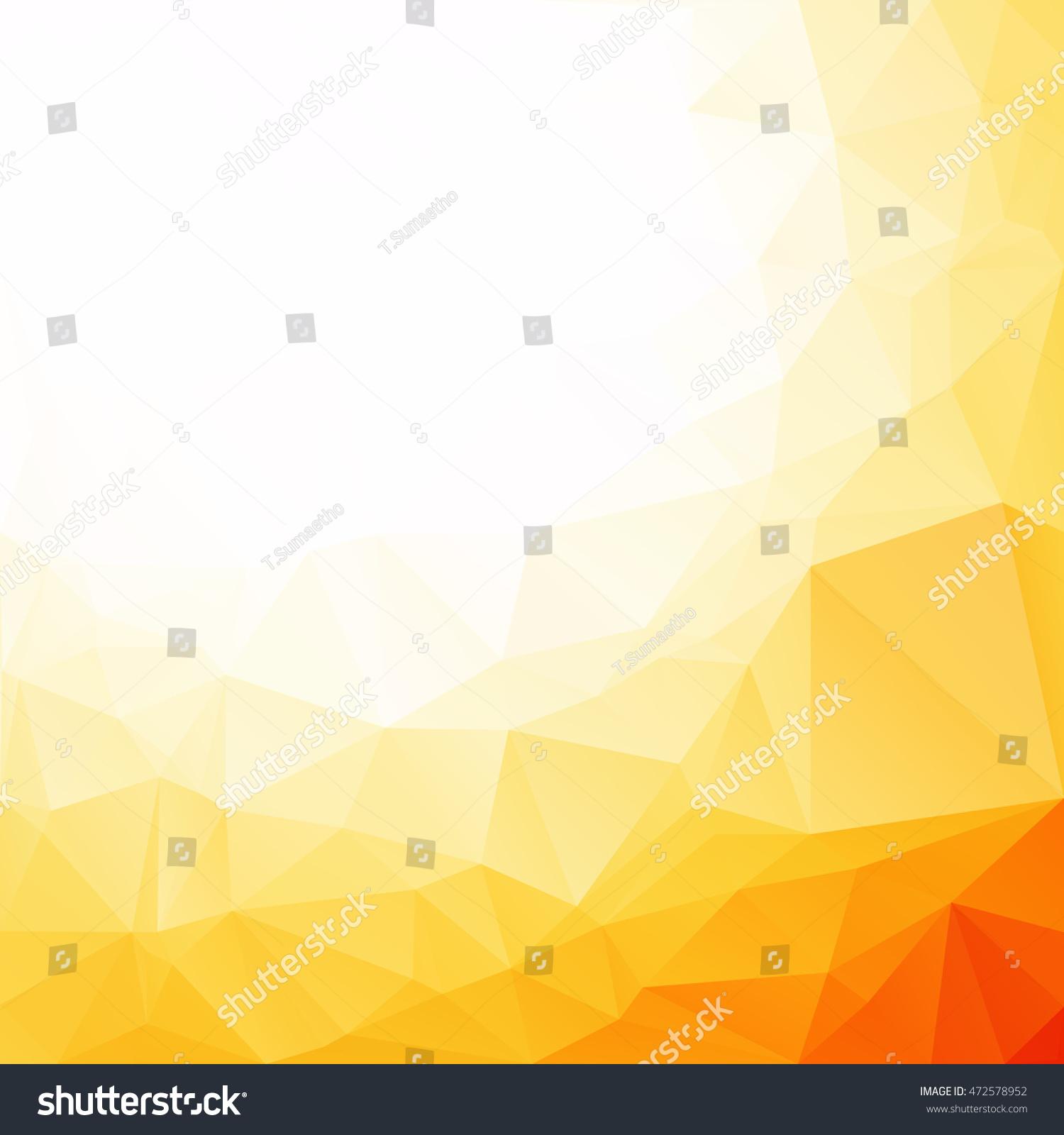 Orange Polygonal Mosaic Background Creative Design Stock Vector ...
