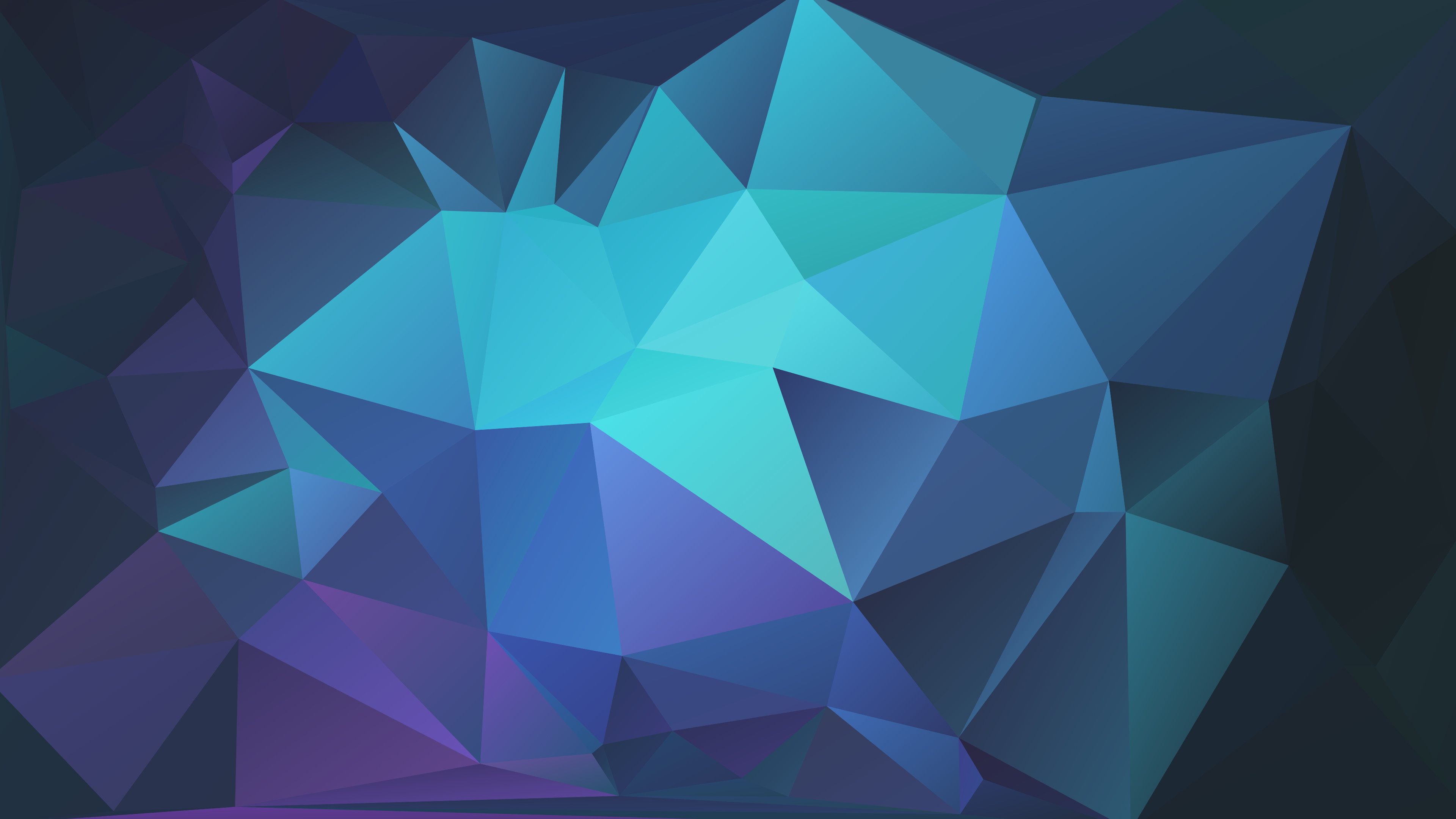 3840x2160] Light blue and dark blue polygonal background I made in ...