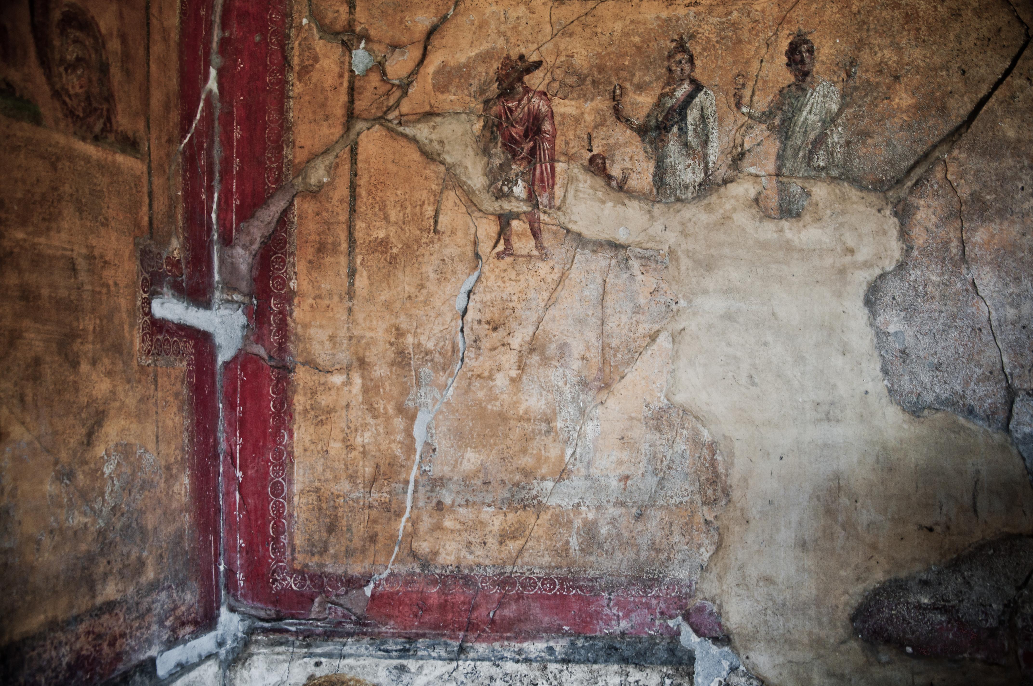 Pompei paintings, Robe, Mt, Naples, Nobody, HQ Photo