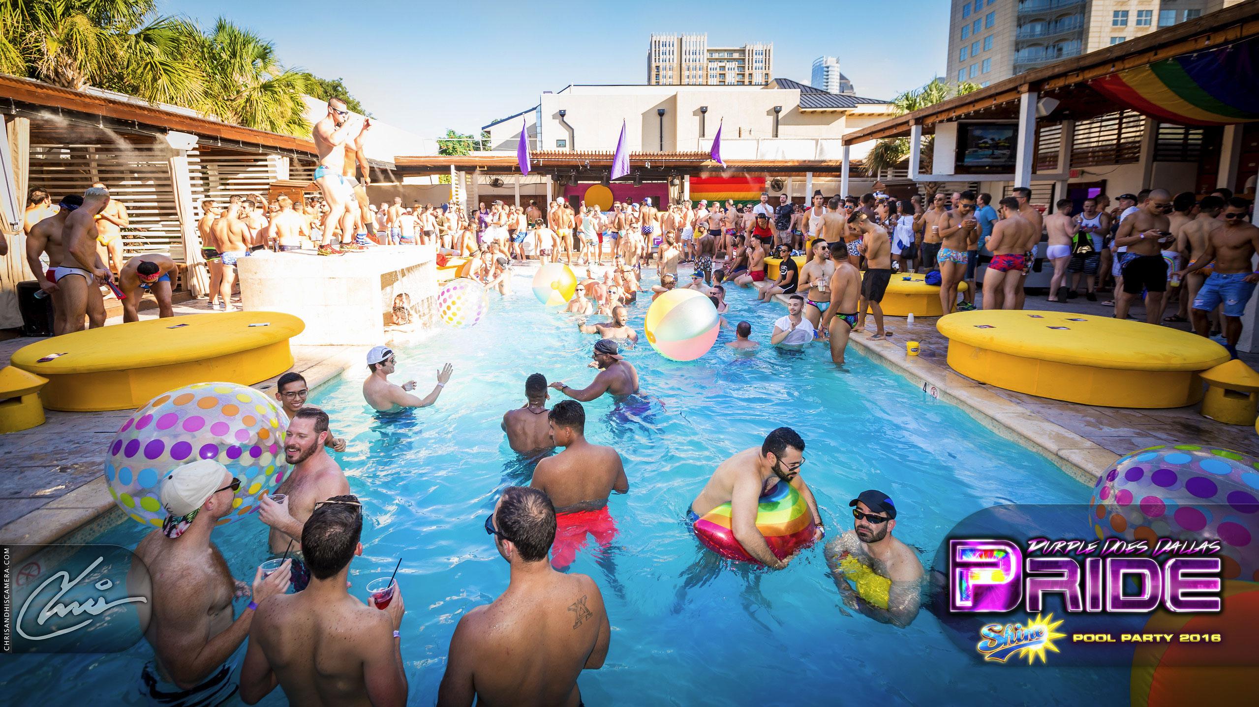 SHINE | The Dallas Pride Pool Party - Purple Foundation, Inc.