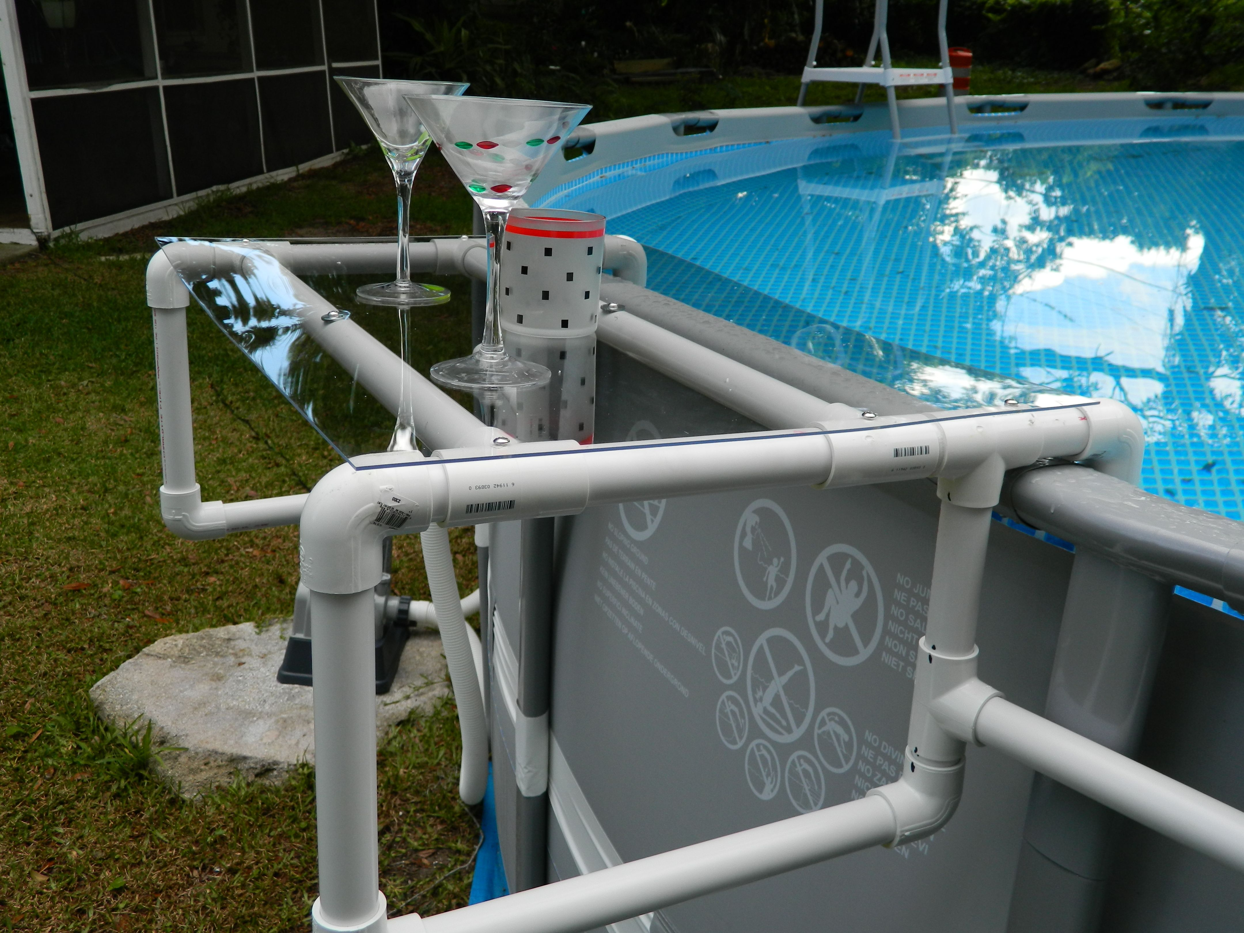 Build a Great Shelf for your Above Ground Pool | Ground pools ...