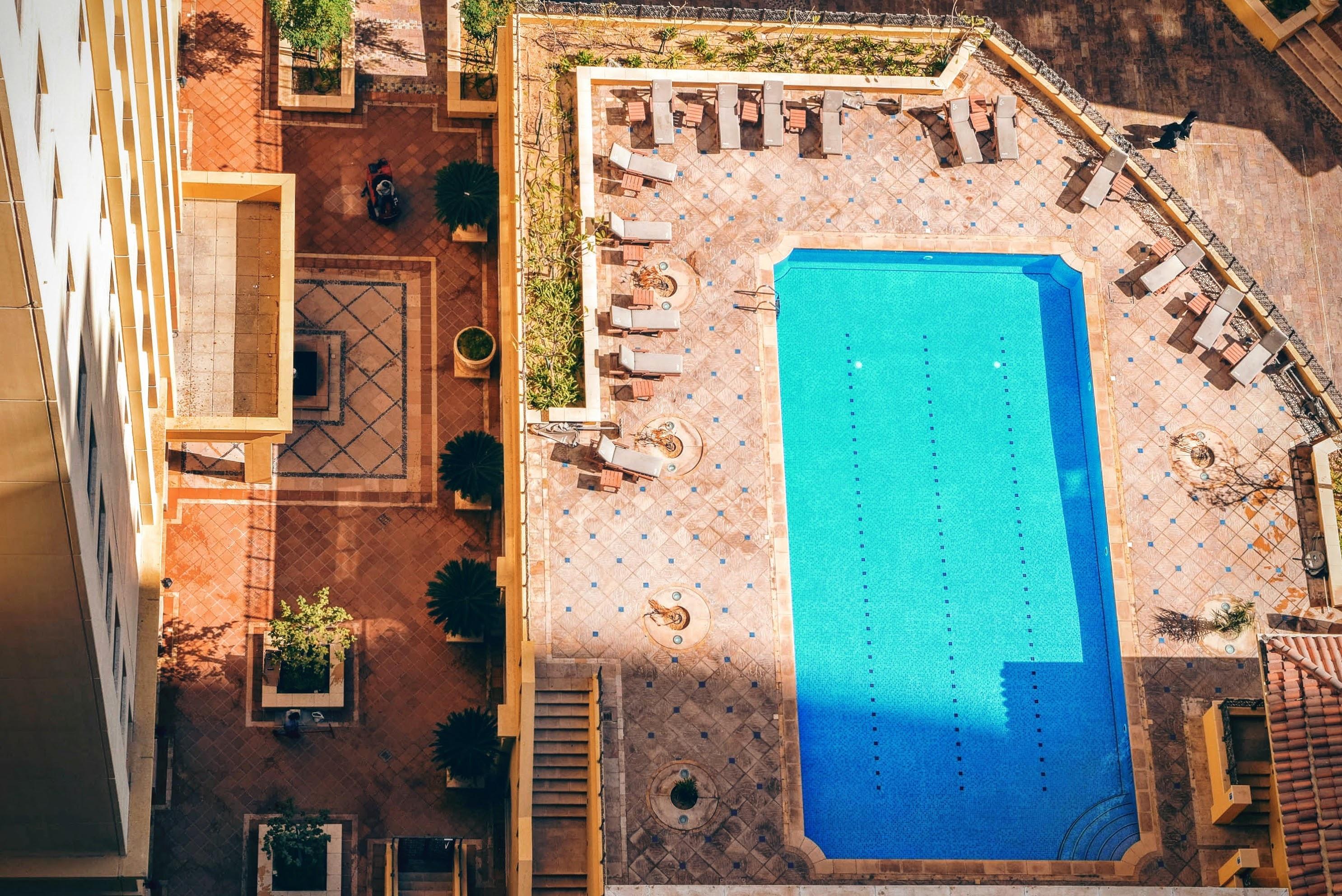 Pool, Blue, Building, Construction, Swim, HQ Photo