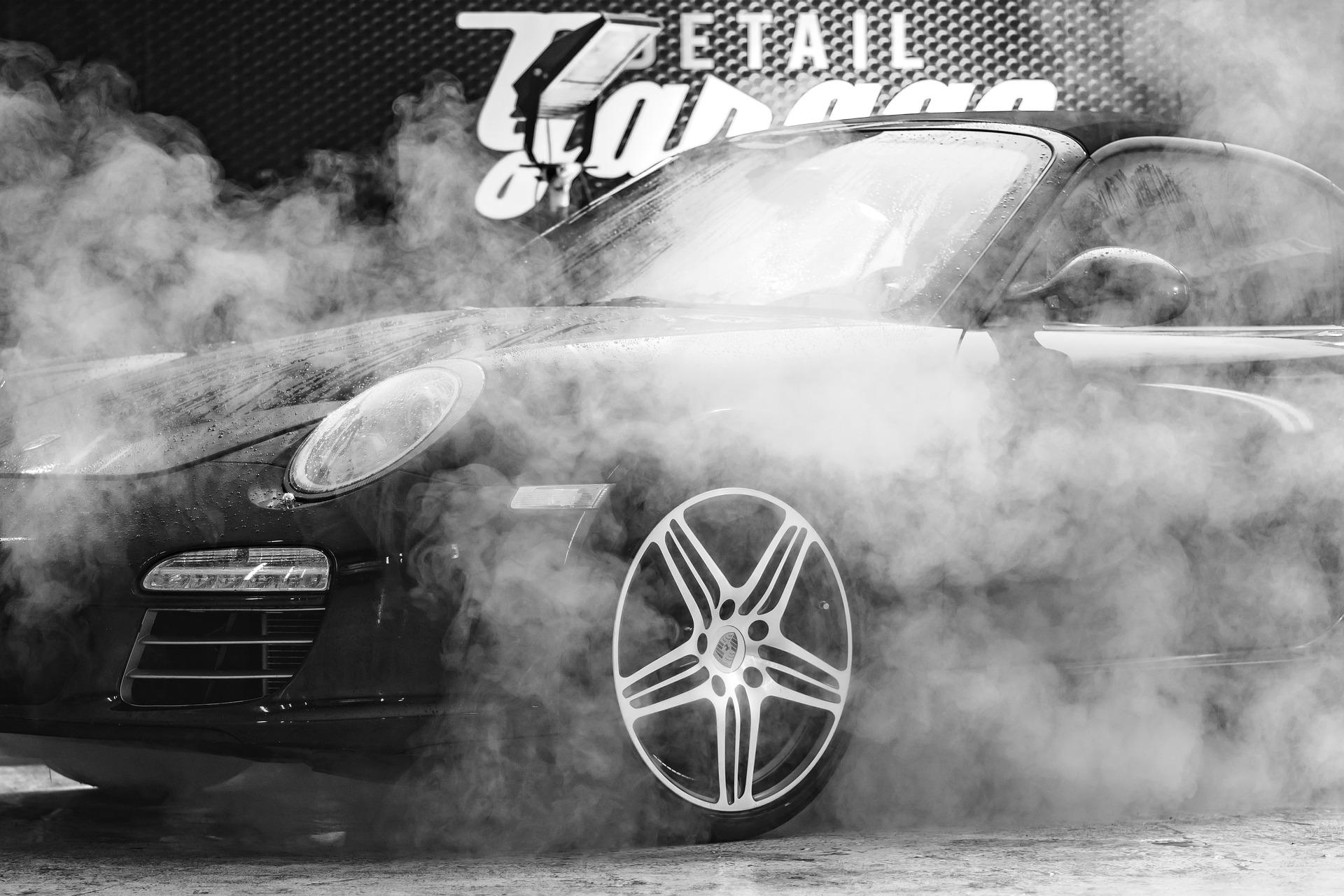 Porsche garage photo