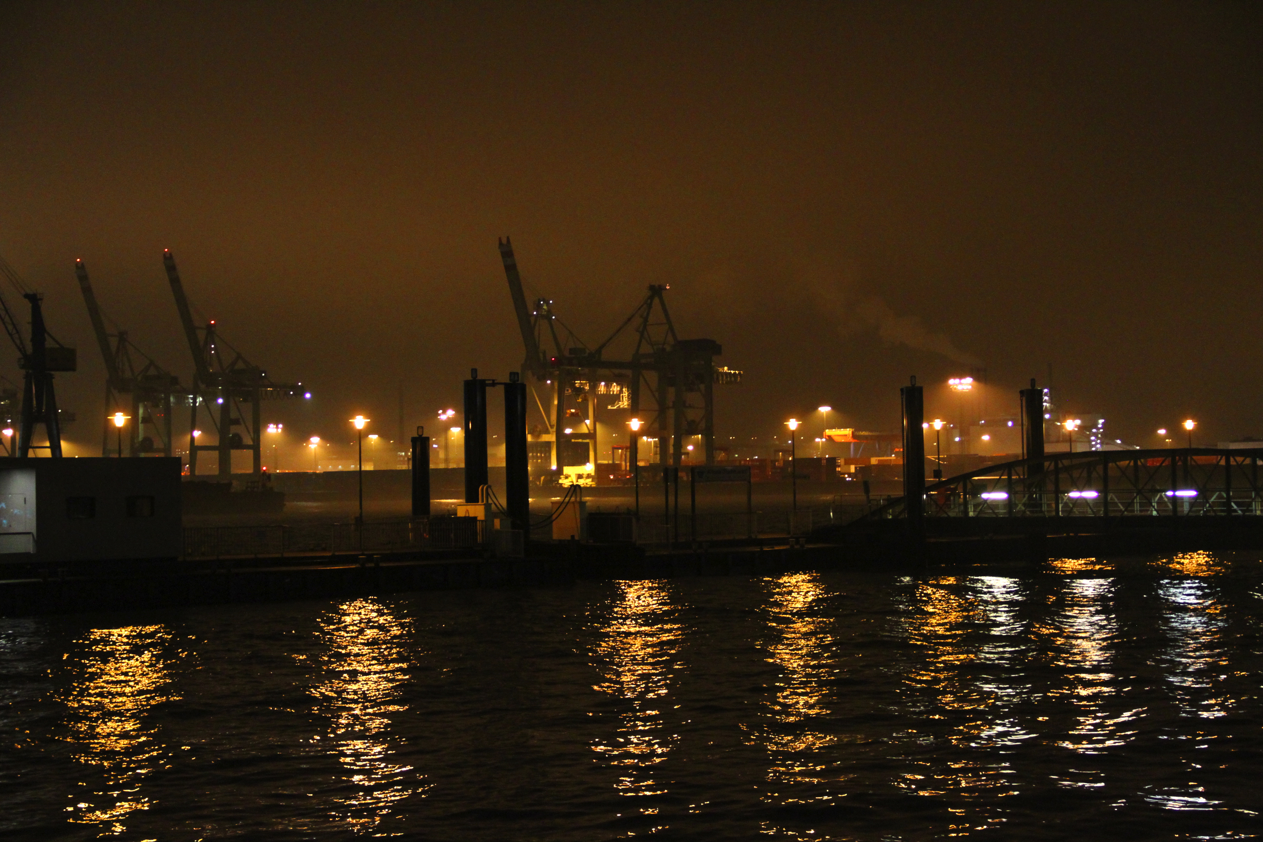 Port at night photo