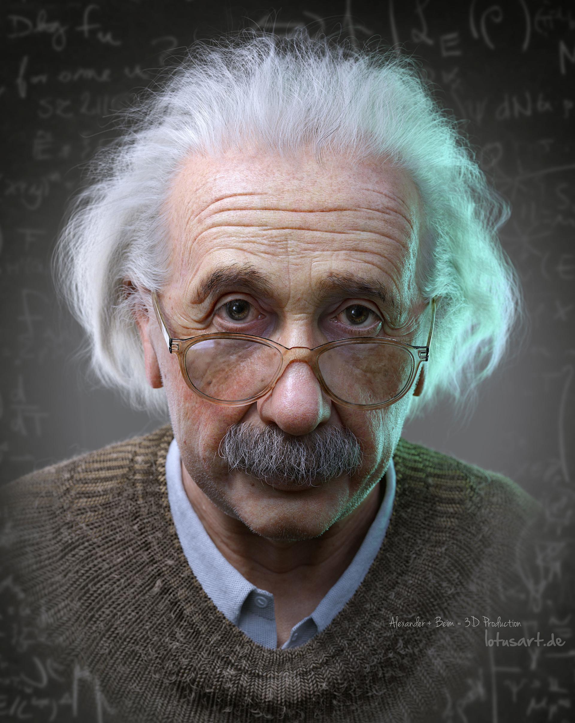 ArtStation - Albert Einstein 3D Portrait for a Hologram, Alexander Beim