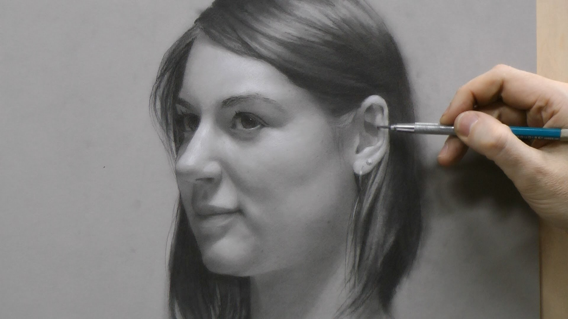 Time-lapse Portrait Drawing Demonstration by David Jamieson #2 - YouTube