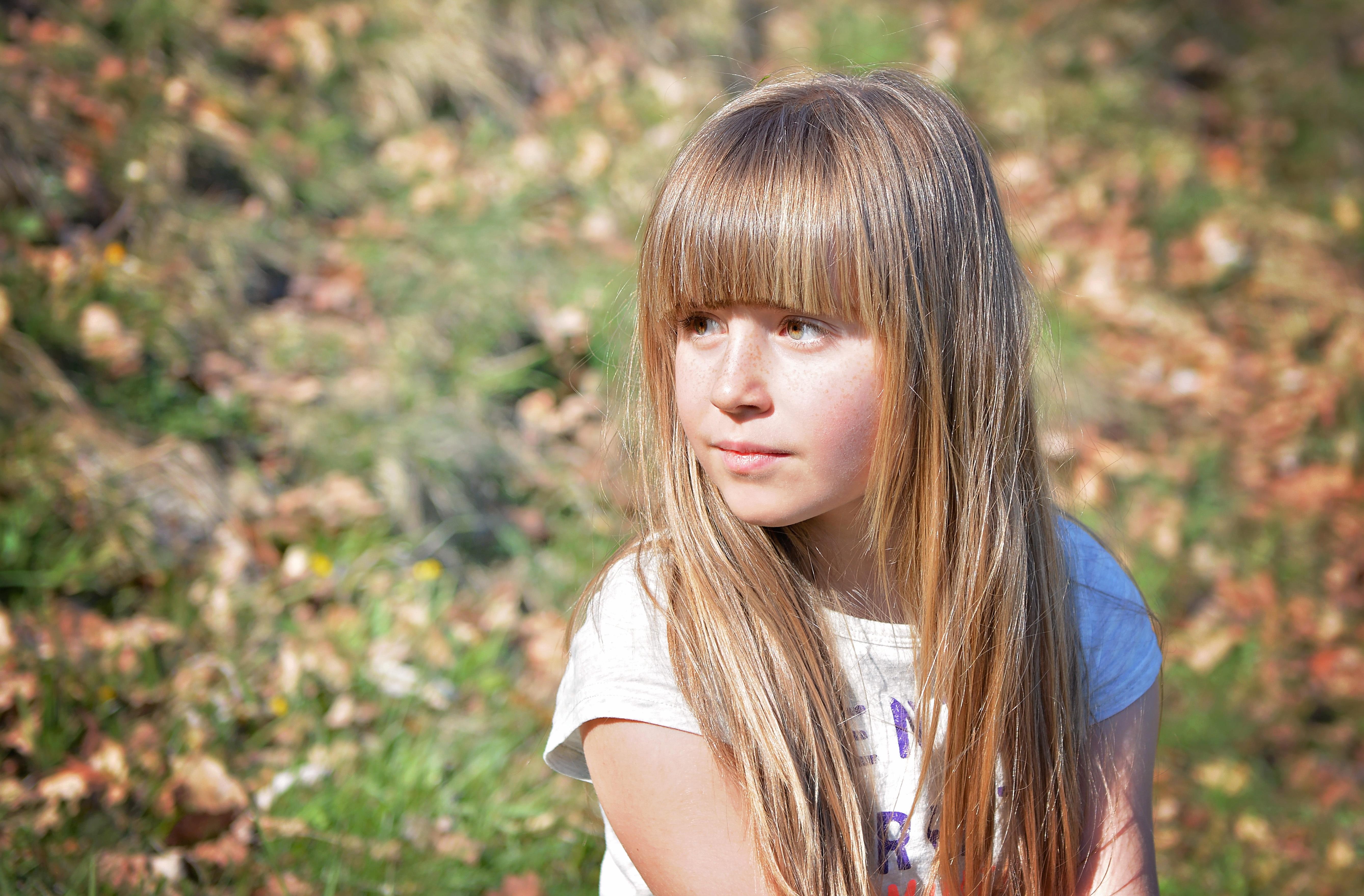 Portrait, Children, Cute, Cuteness, Girl, HQ Photo