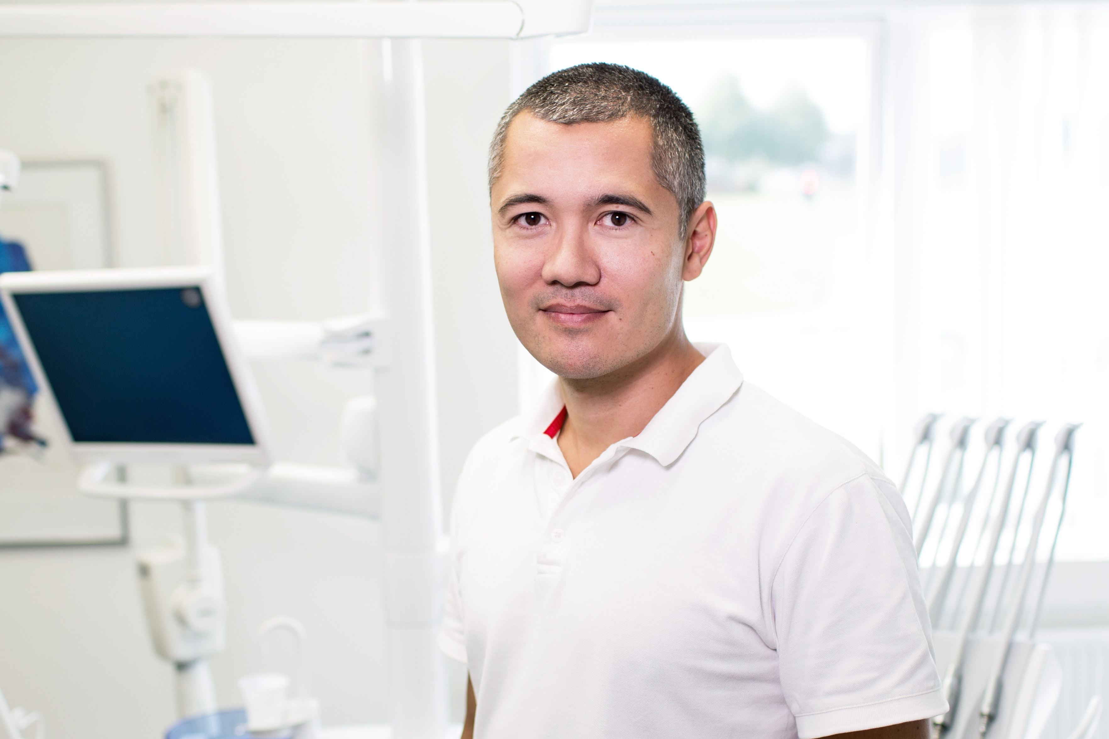 Portrait of smiling man photo