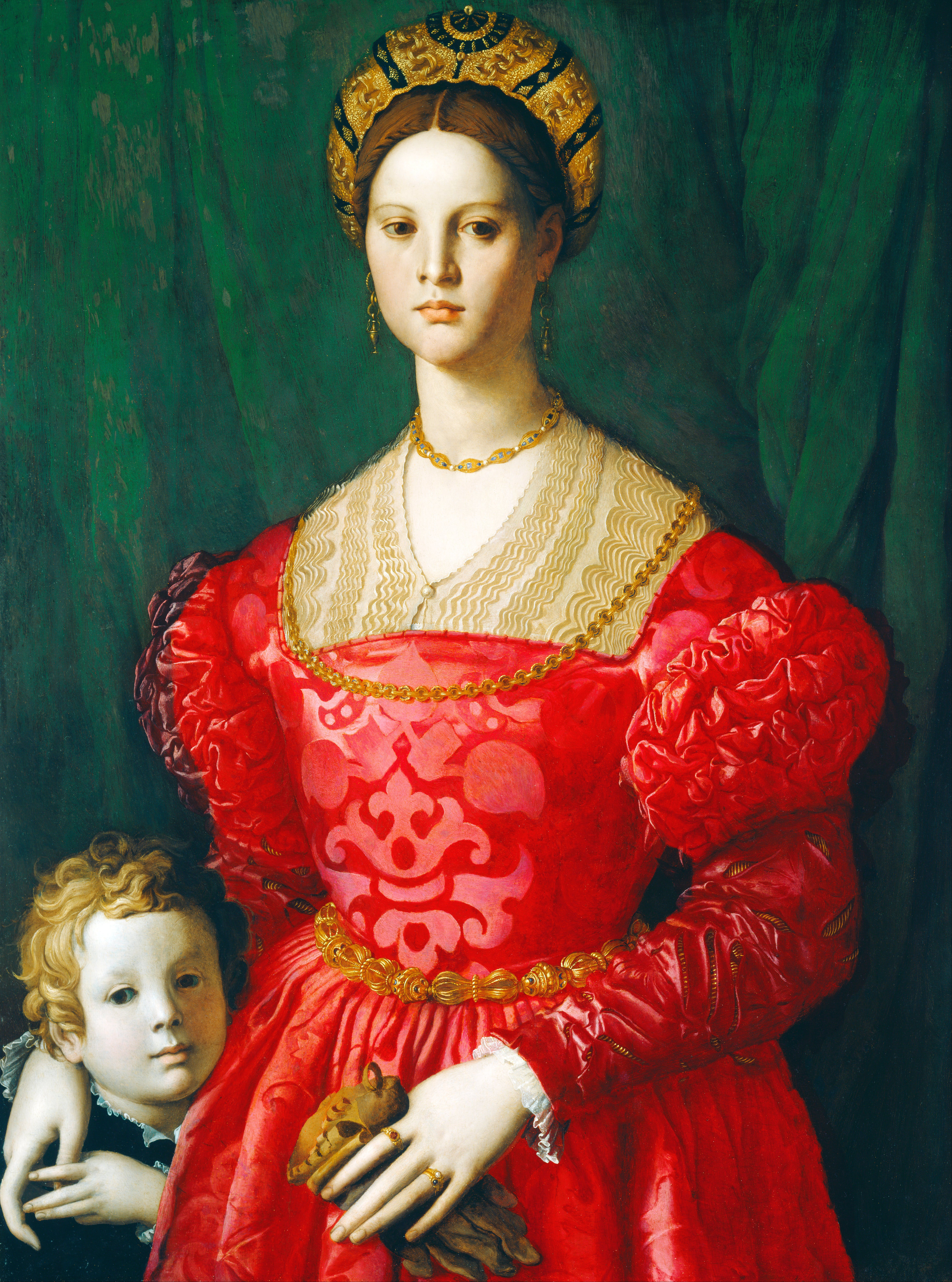 A portrait of an unknown woman and boy attributed to Bronzino. Maike ...