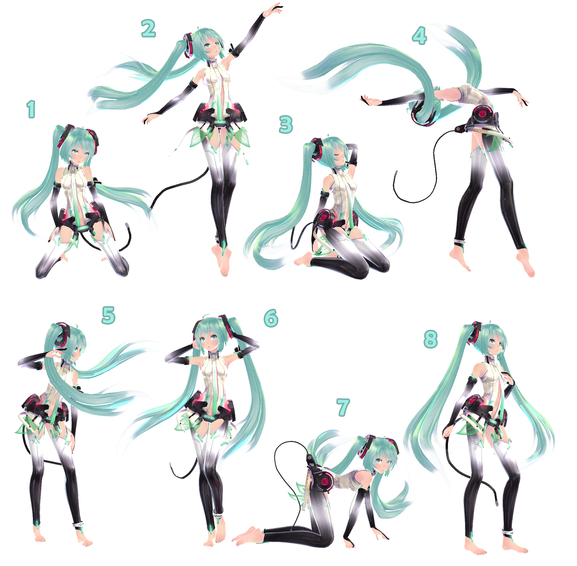 MMD] Pose Pack 1 - DL by Snorlaxin on DeviantArt