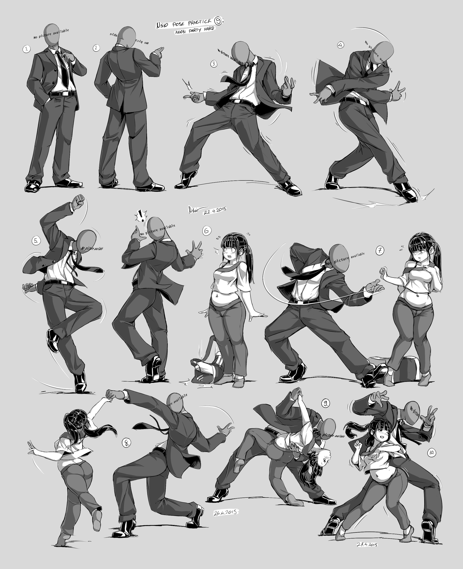 Pose Practices by Nsio on DeviantArt