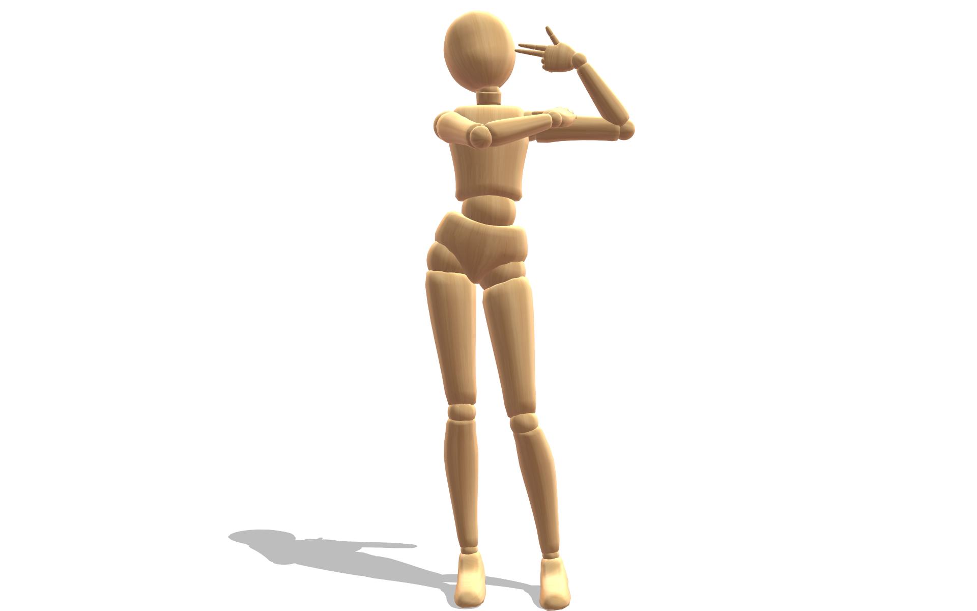 MMD] Shooting Pose by StrikingHope on DeviantArt