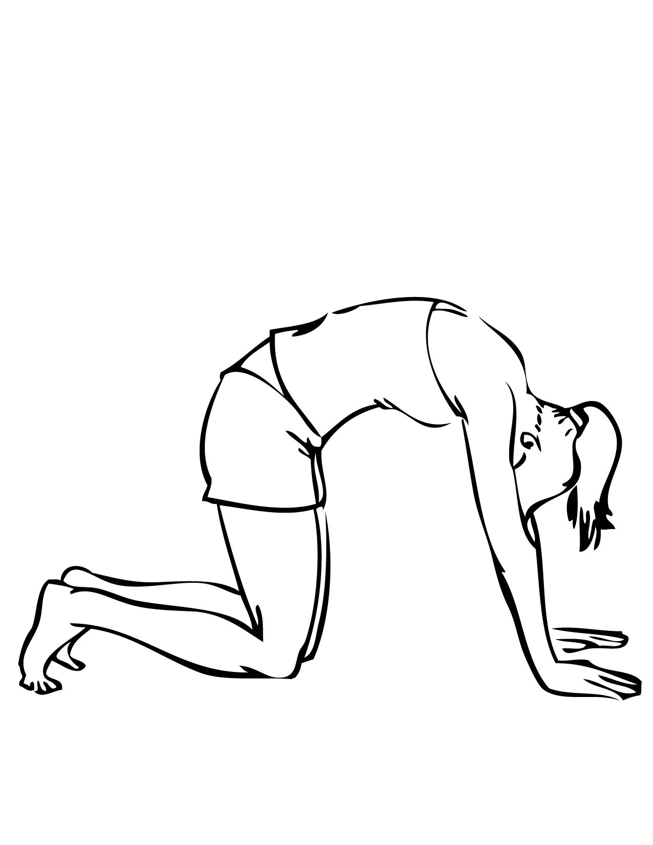 Cat Pose Coloring Page - Handipoints