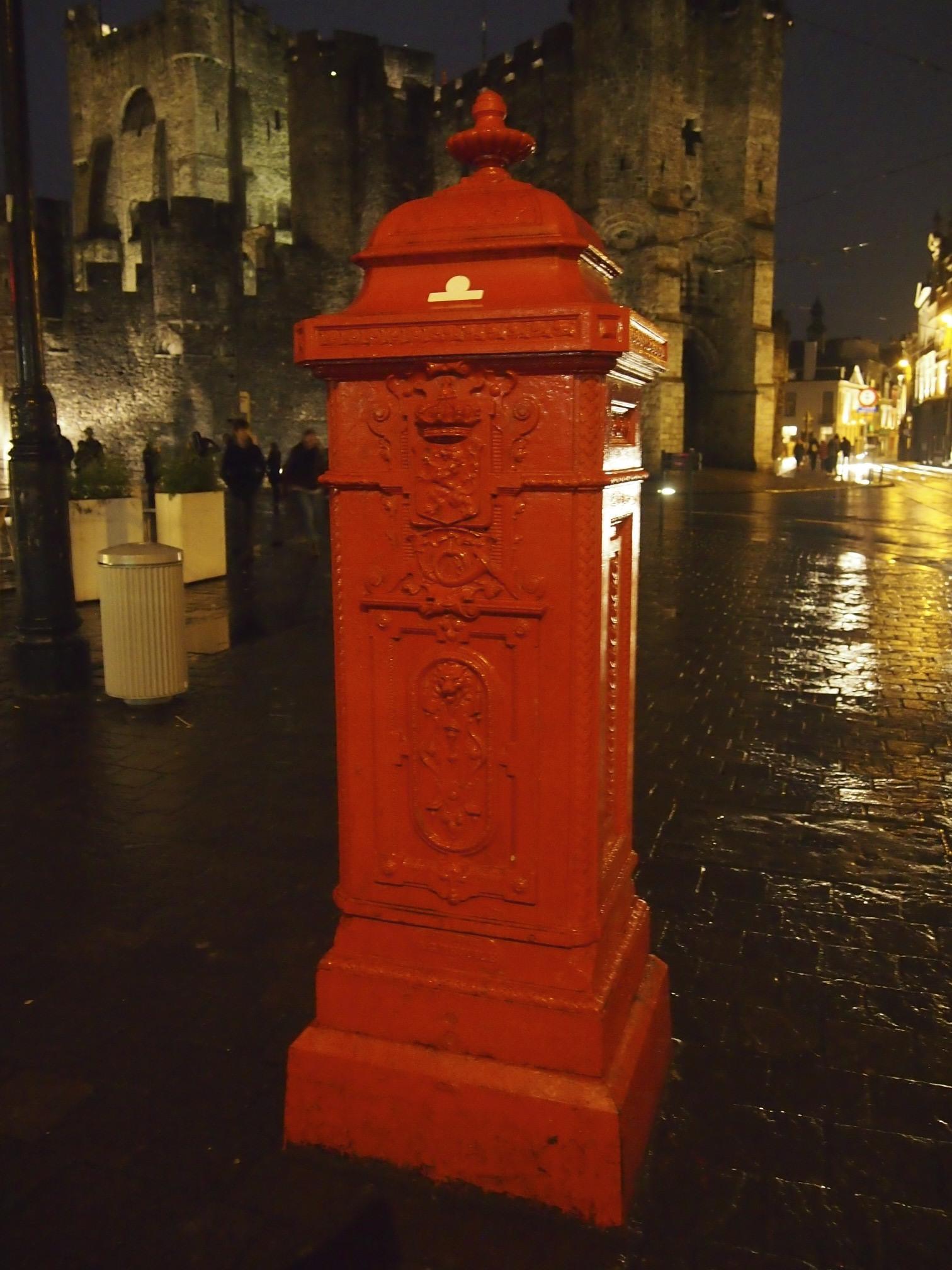 Post in ghent, belgium photo
