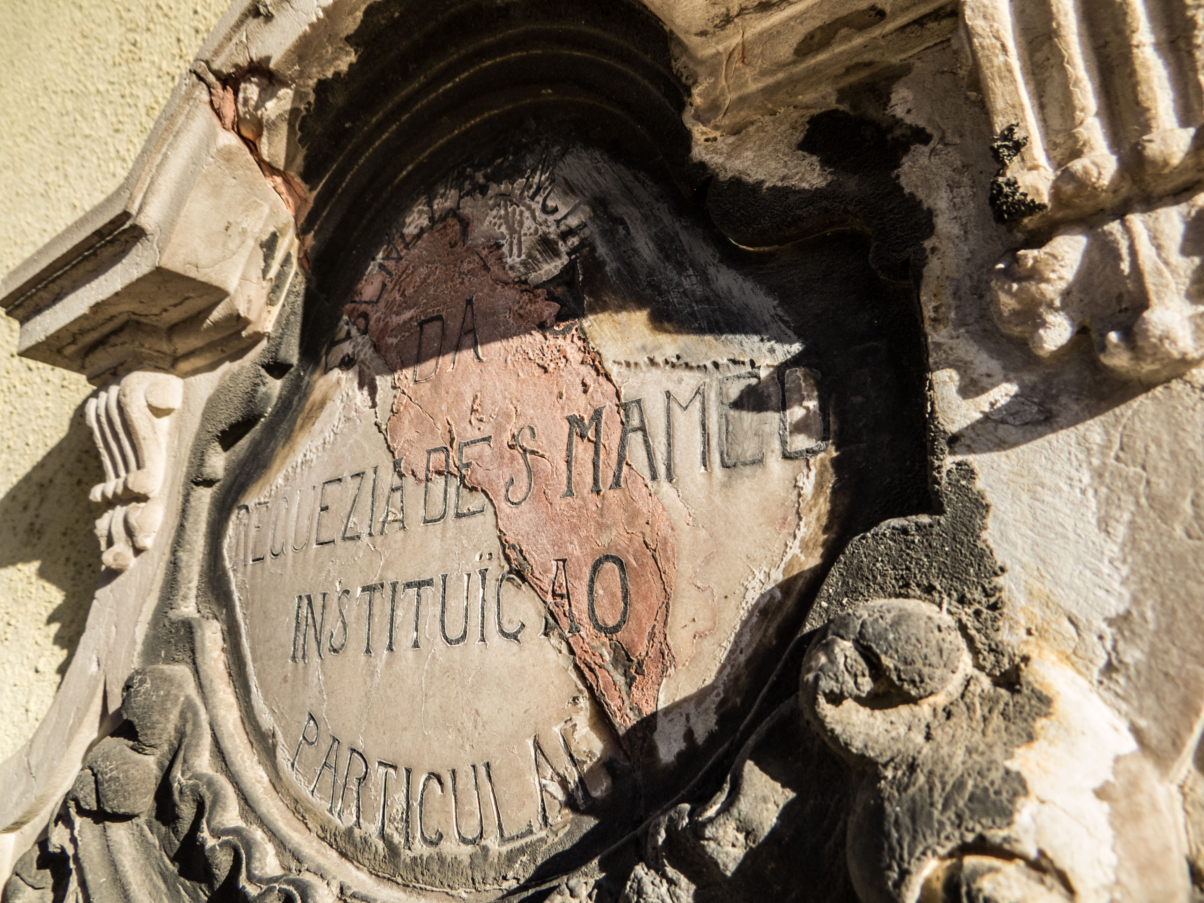 Post ornament, Sign, Stone, Written, Portugal, HQ Photo