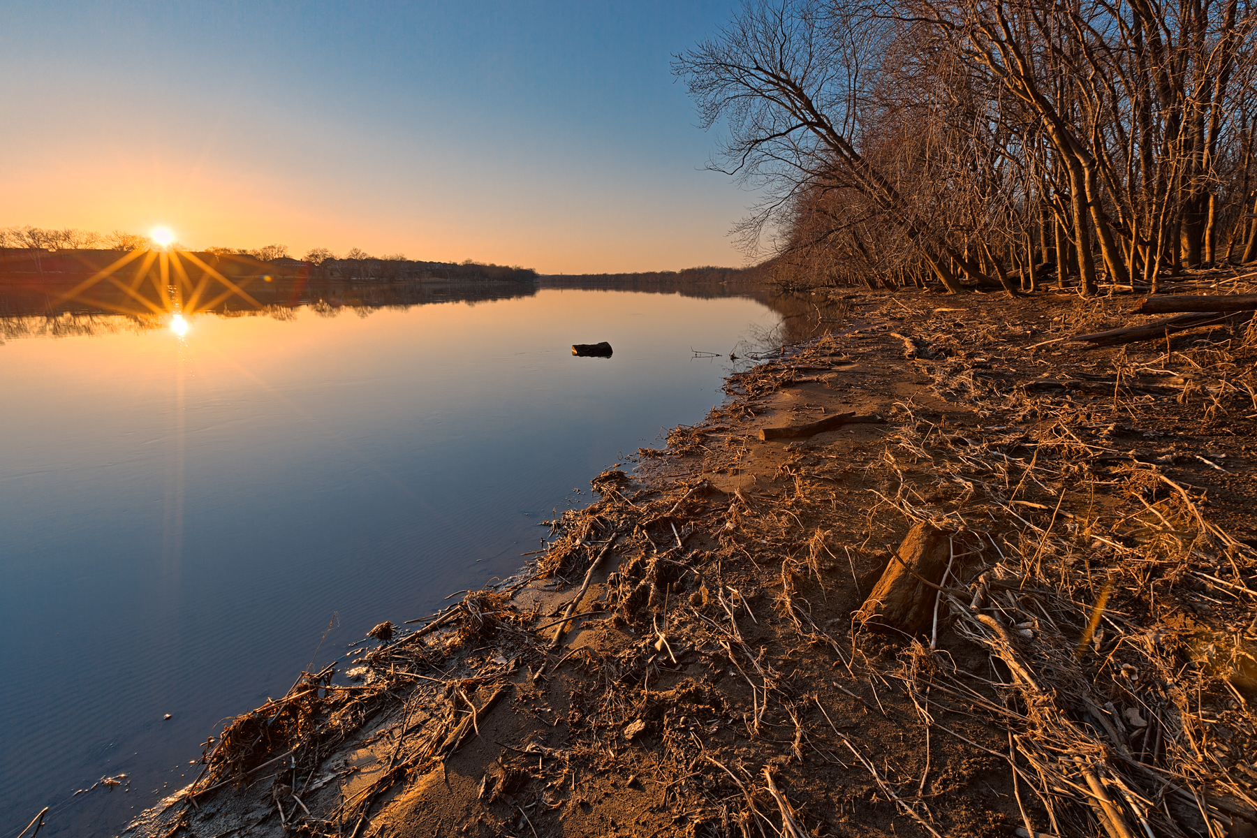 Potomac sunset - hdr photo