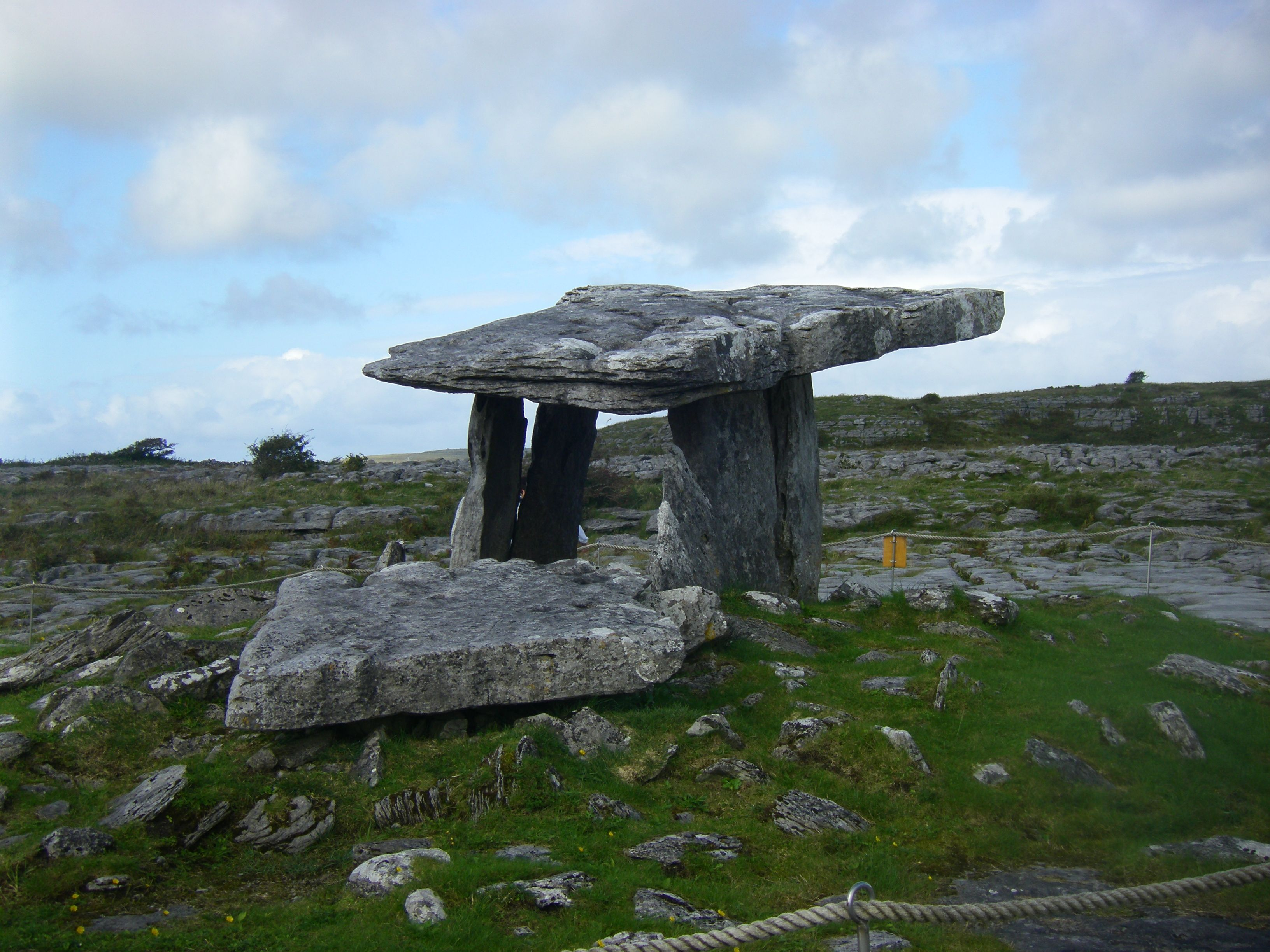 Poulnabrone portal tomb, the Burren, Co. Clare, Ireland. Dates back ...