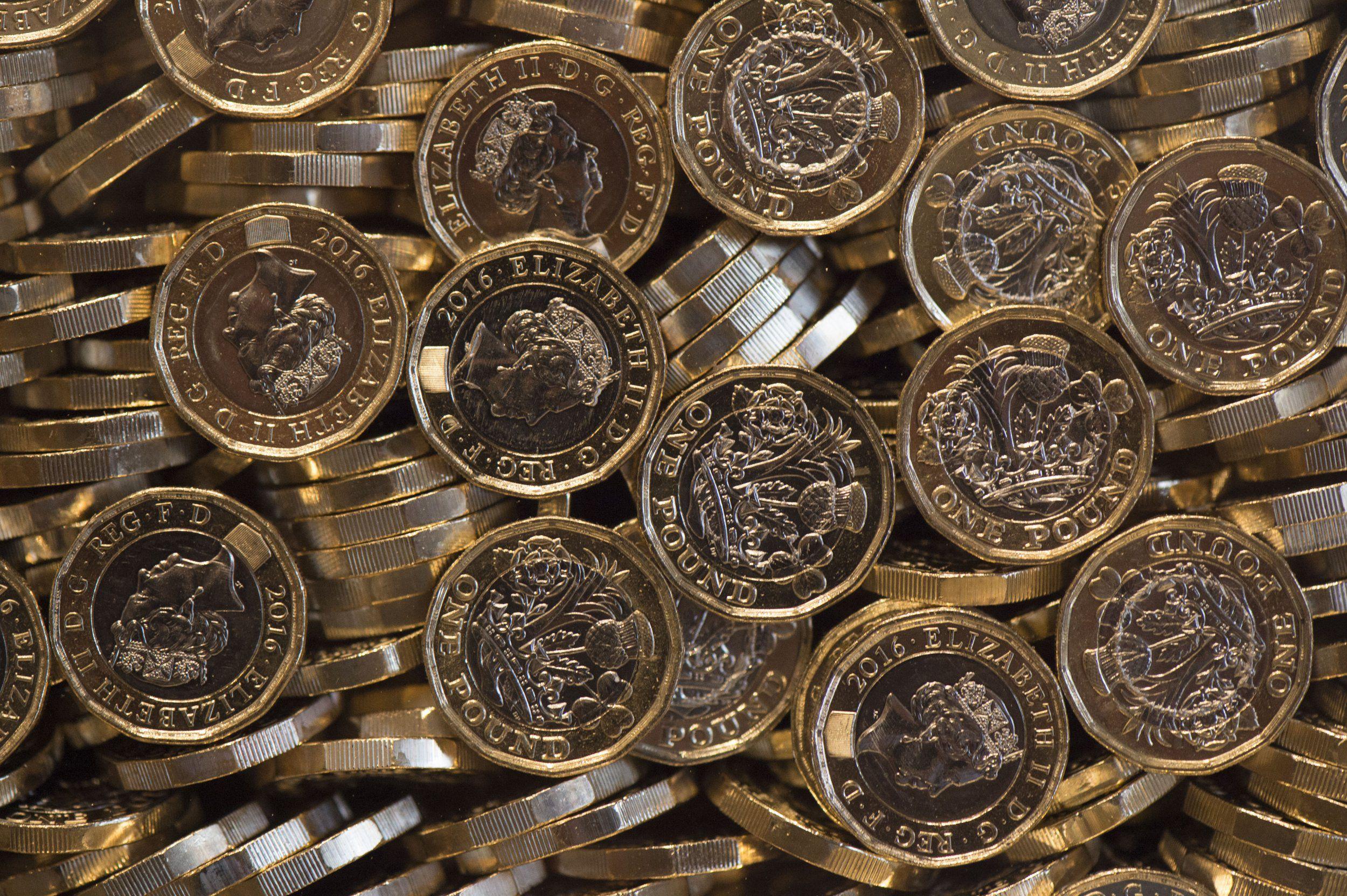 Pound coins photo