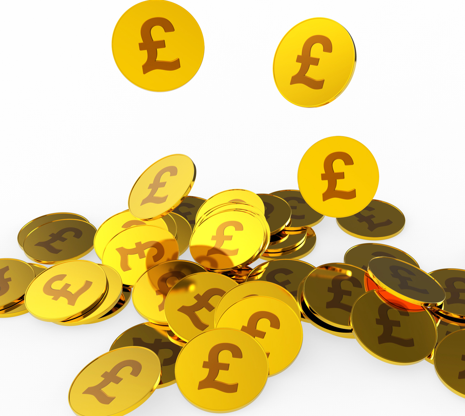 Pound coins shows british pounds and finance photo