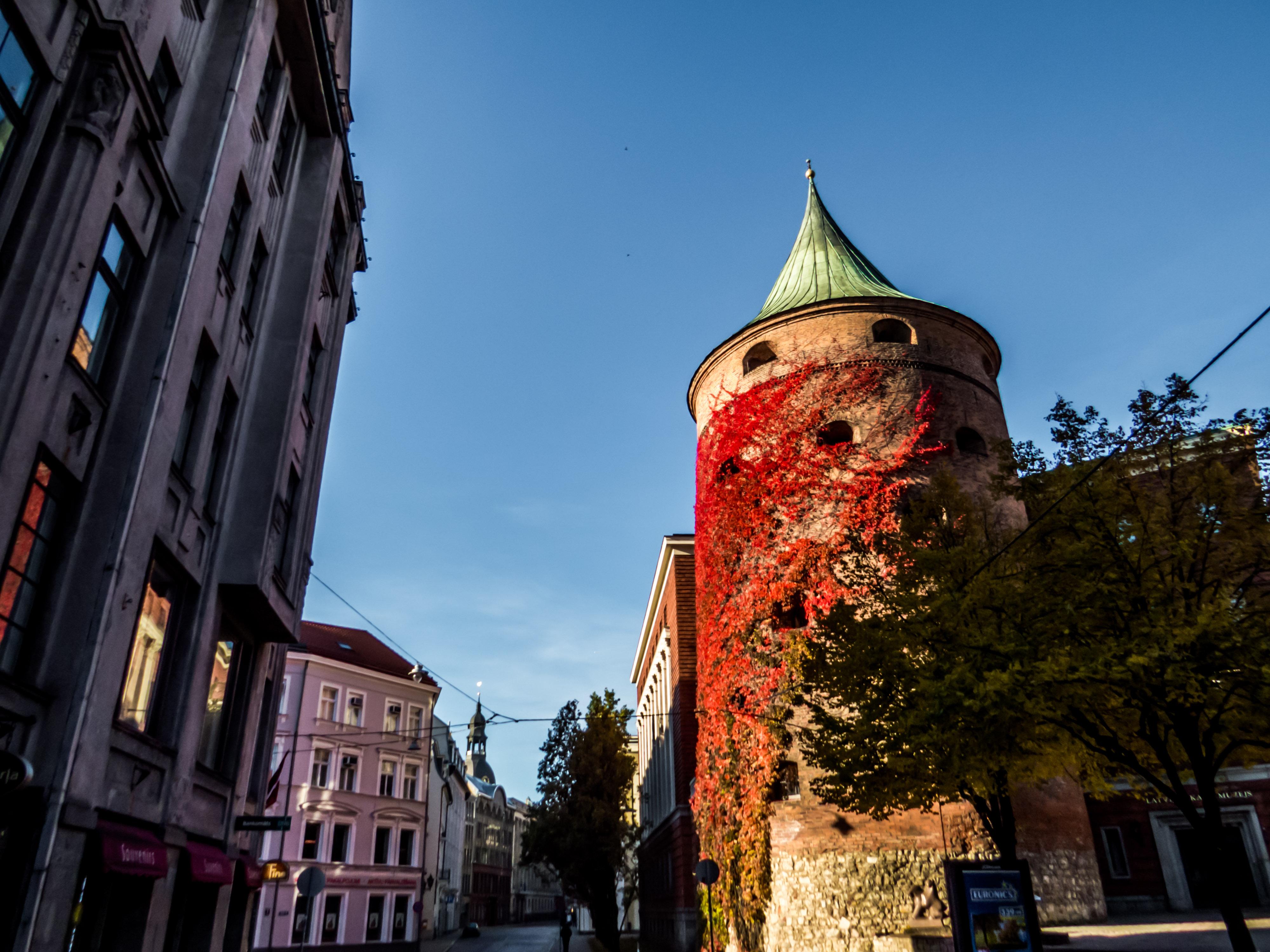 Powder Tower, Riga, Autumn, Beautiful, Building, City, HQ Photo