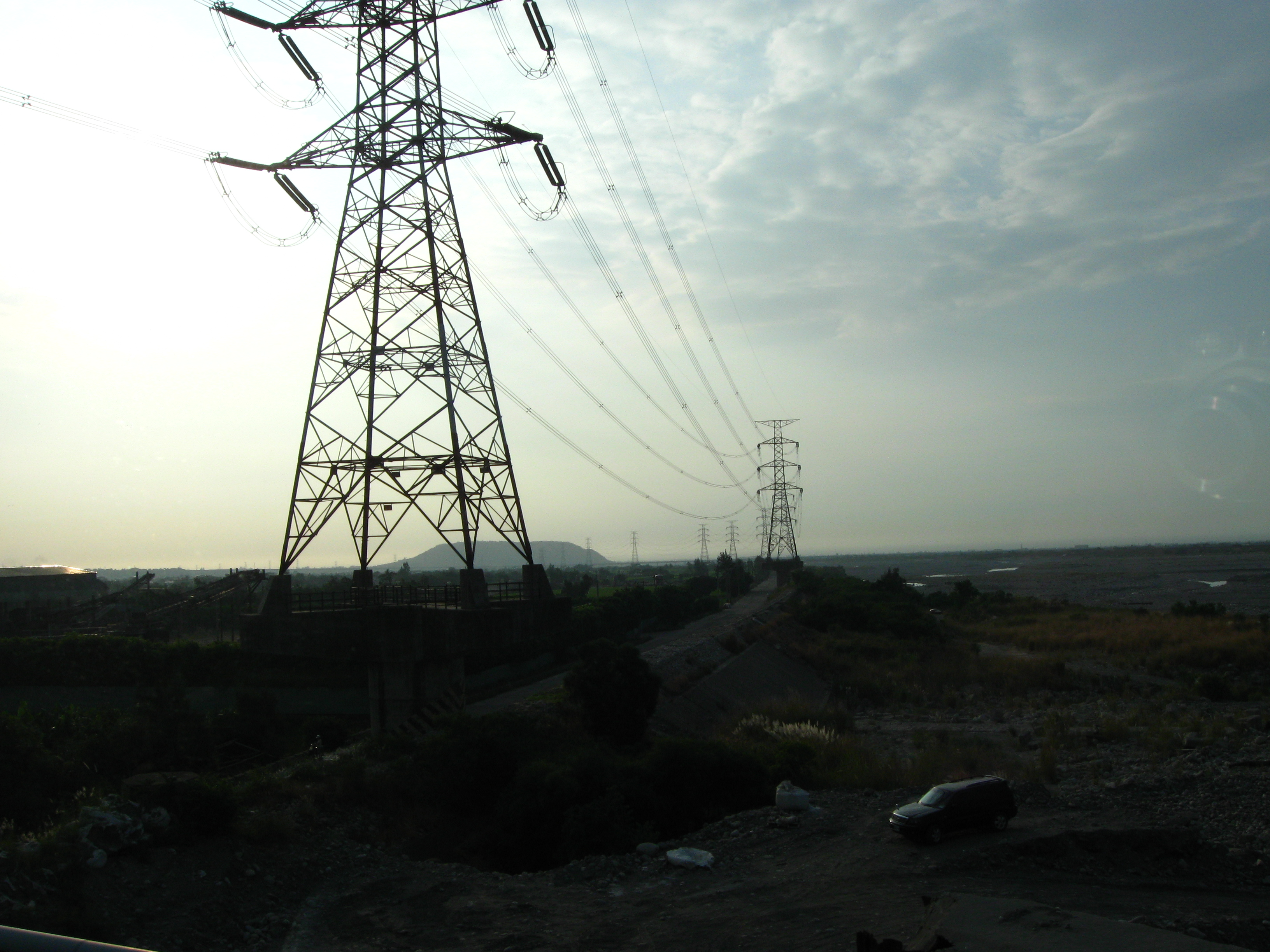 Power lines and towers photo