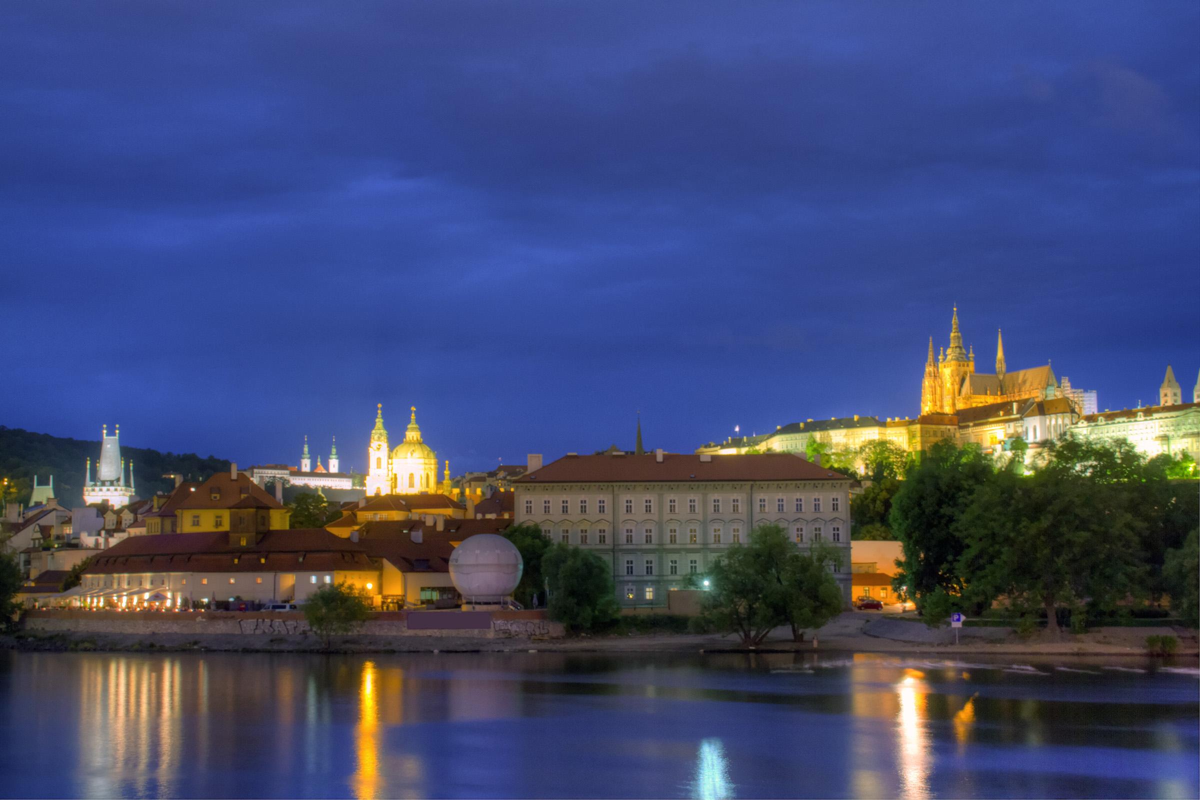 Prague at night, Ancient, Royal, Palace, Prague, HQ Photo