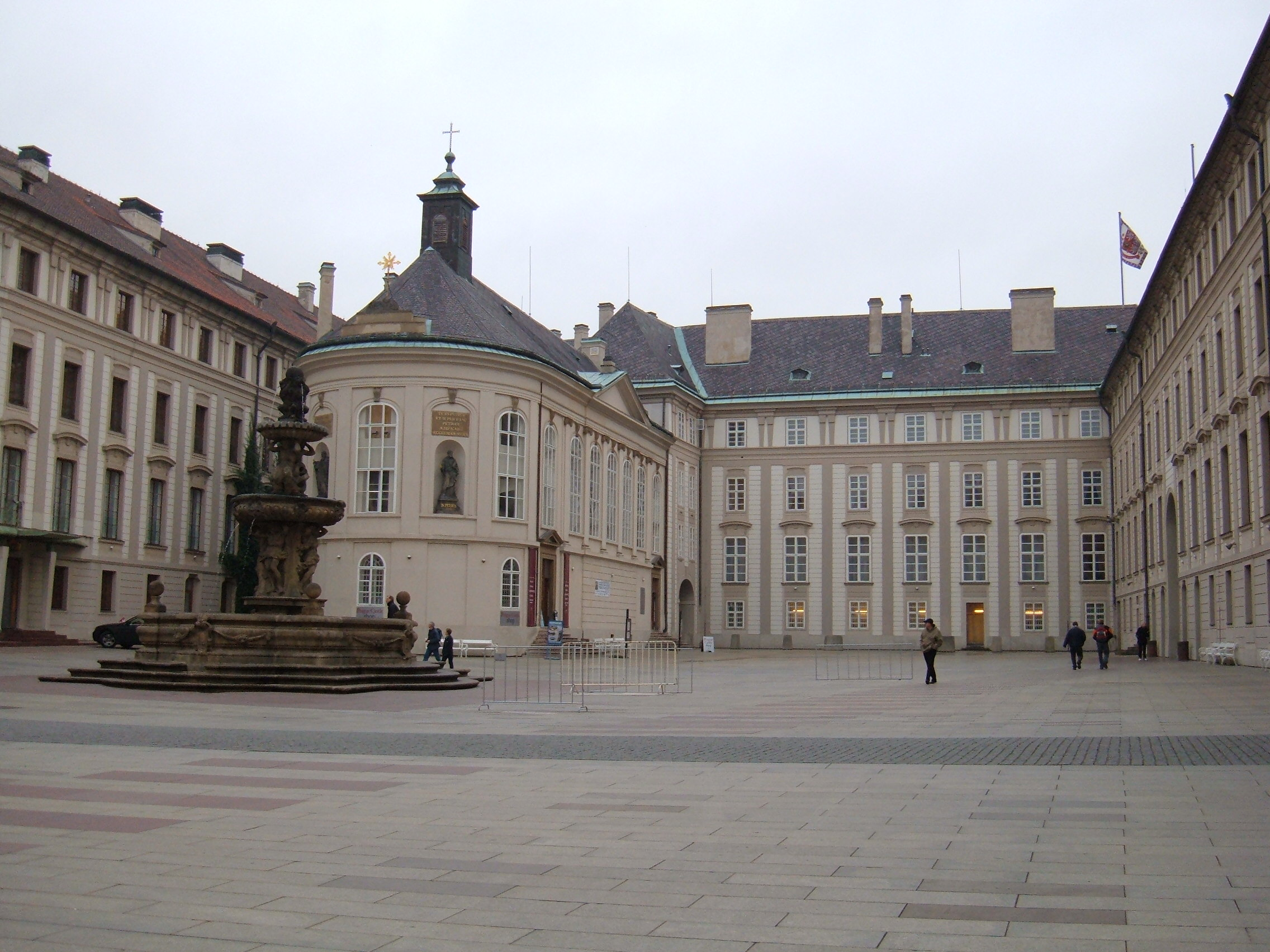 Prague castle courtyard photo