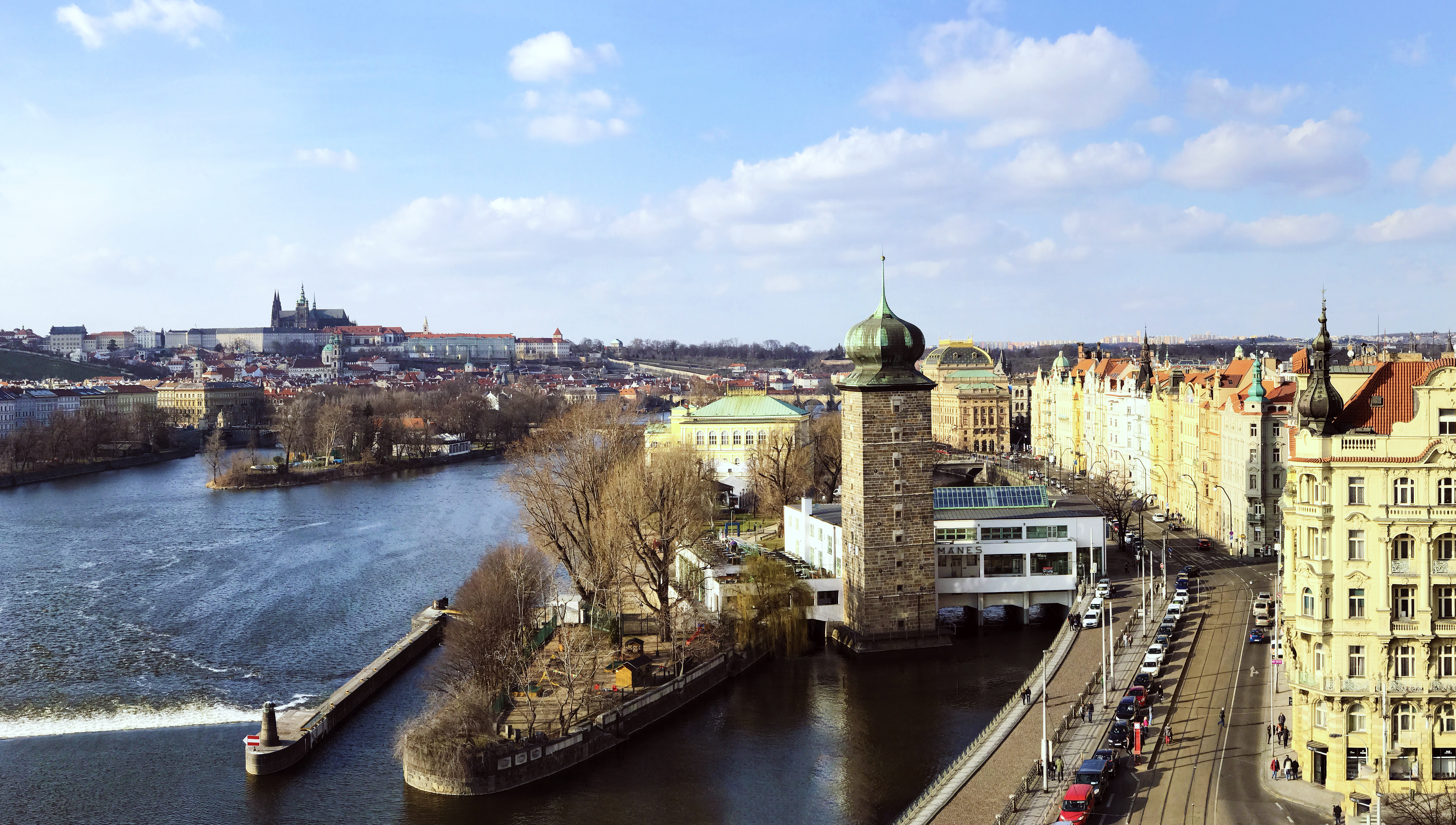 Prague in the Late Afternoon, Autumn, Reflection, Vacation, Urban, HQ Photo