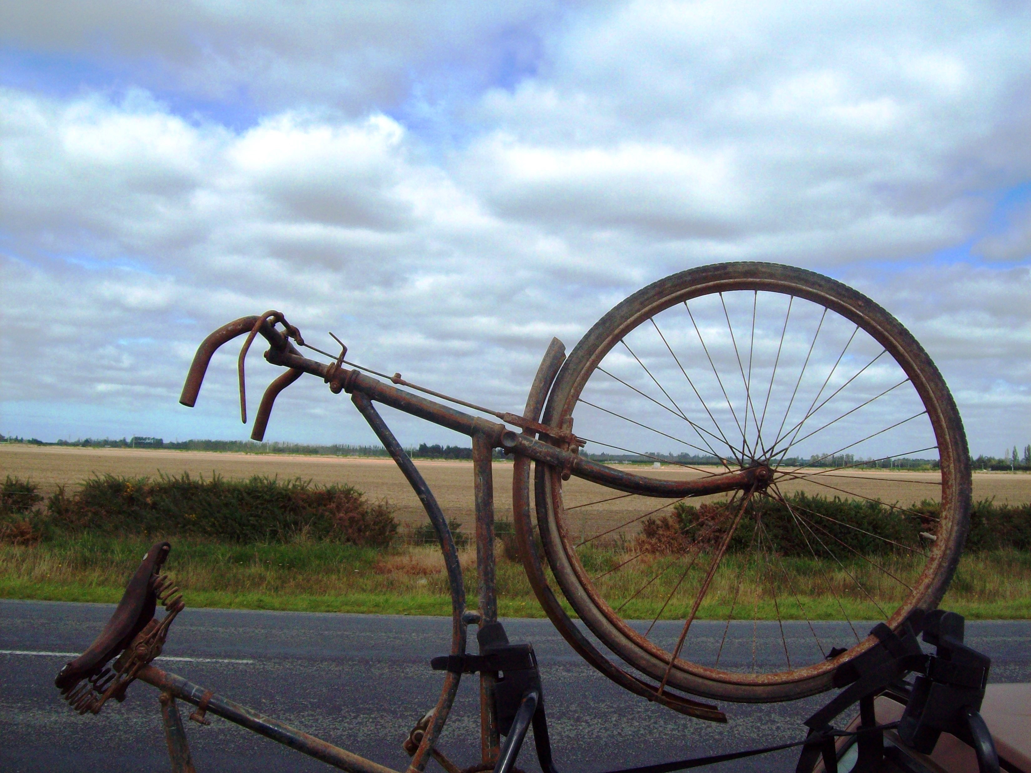 Pre war Somme Bicycle -  Ashburton Airpo, Bicycle, Bike, Clouds, Cycle, HQ Photo