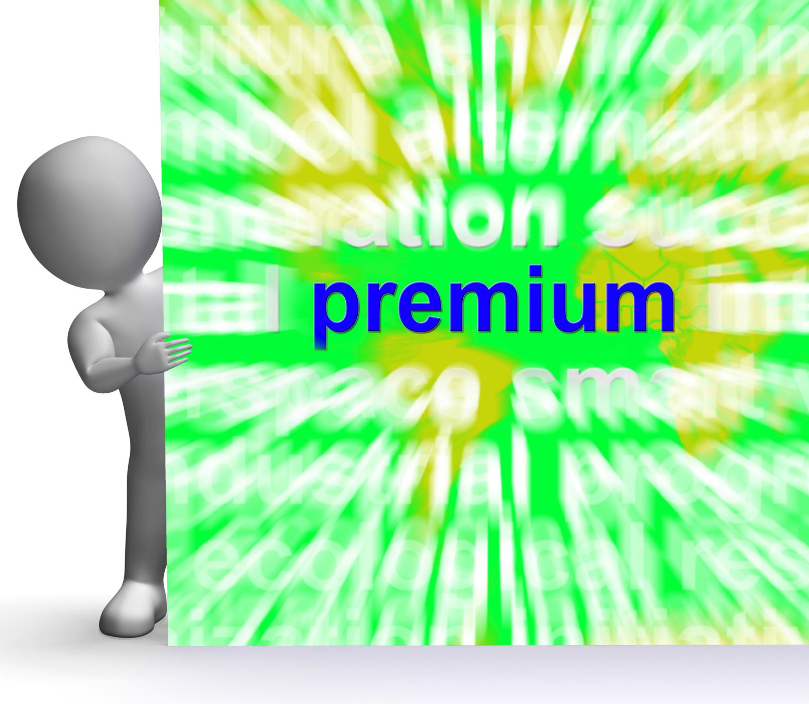 Premium word cloud sign shows best bonus premiums photo