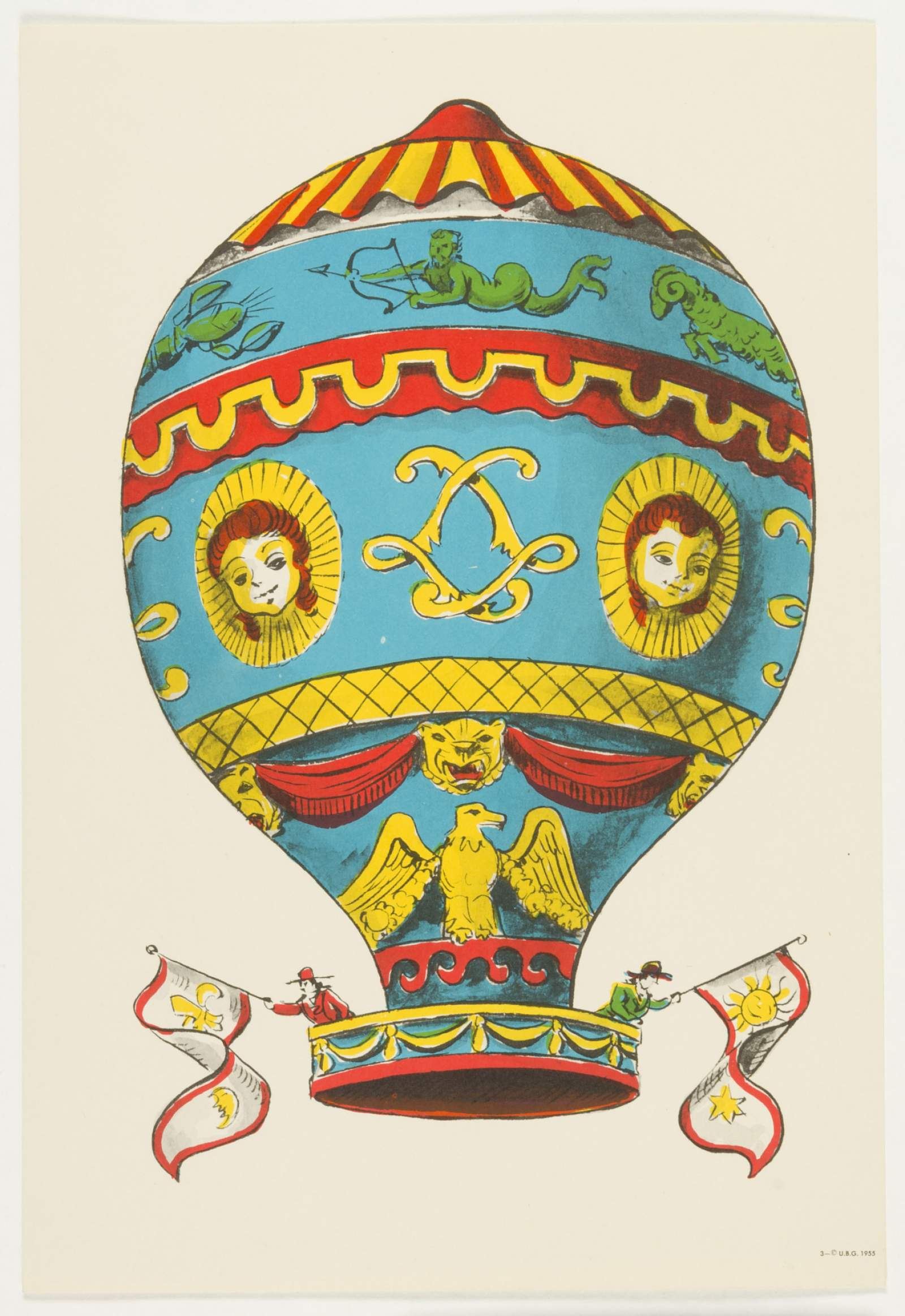 Untitled: Montgolfier Balloon. One of set of balloon prints for ...
