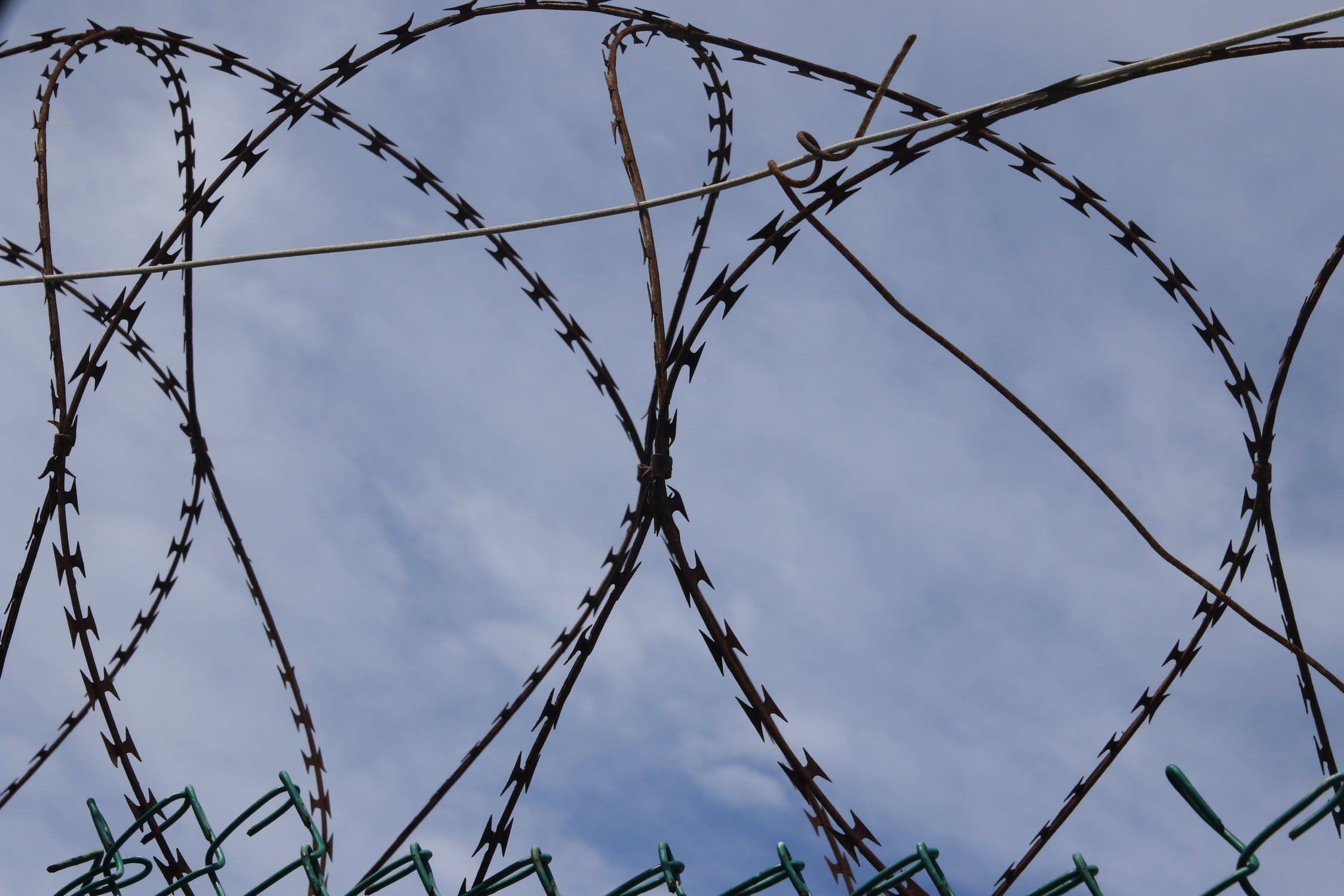 Prison barbwire photo