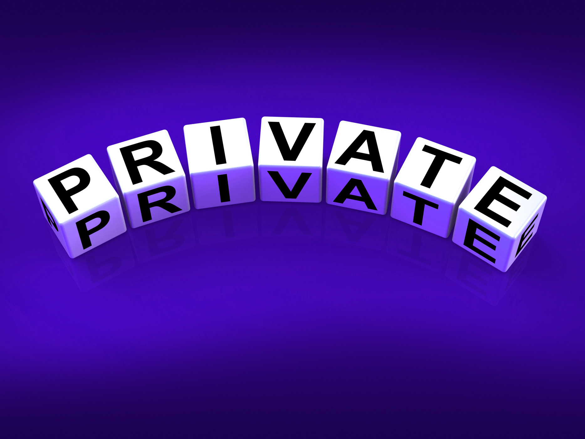 Private blocks refer to confidentiality exclusively and privacy photo