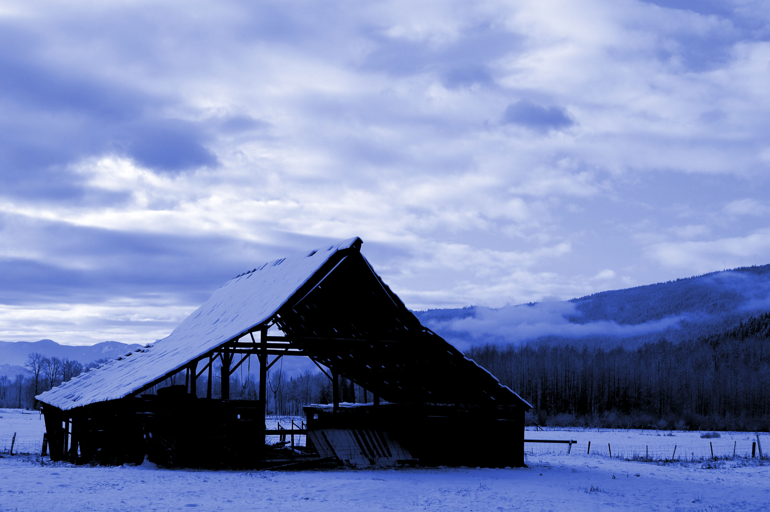 Procter barn, Abandoned, Barn, Blue, Bspo07, HQ Photo