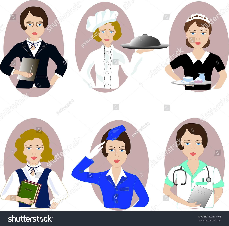 Women Profession Stock Vector 392509465 - Shutterstock