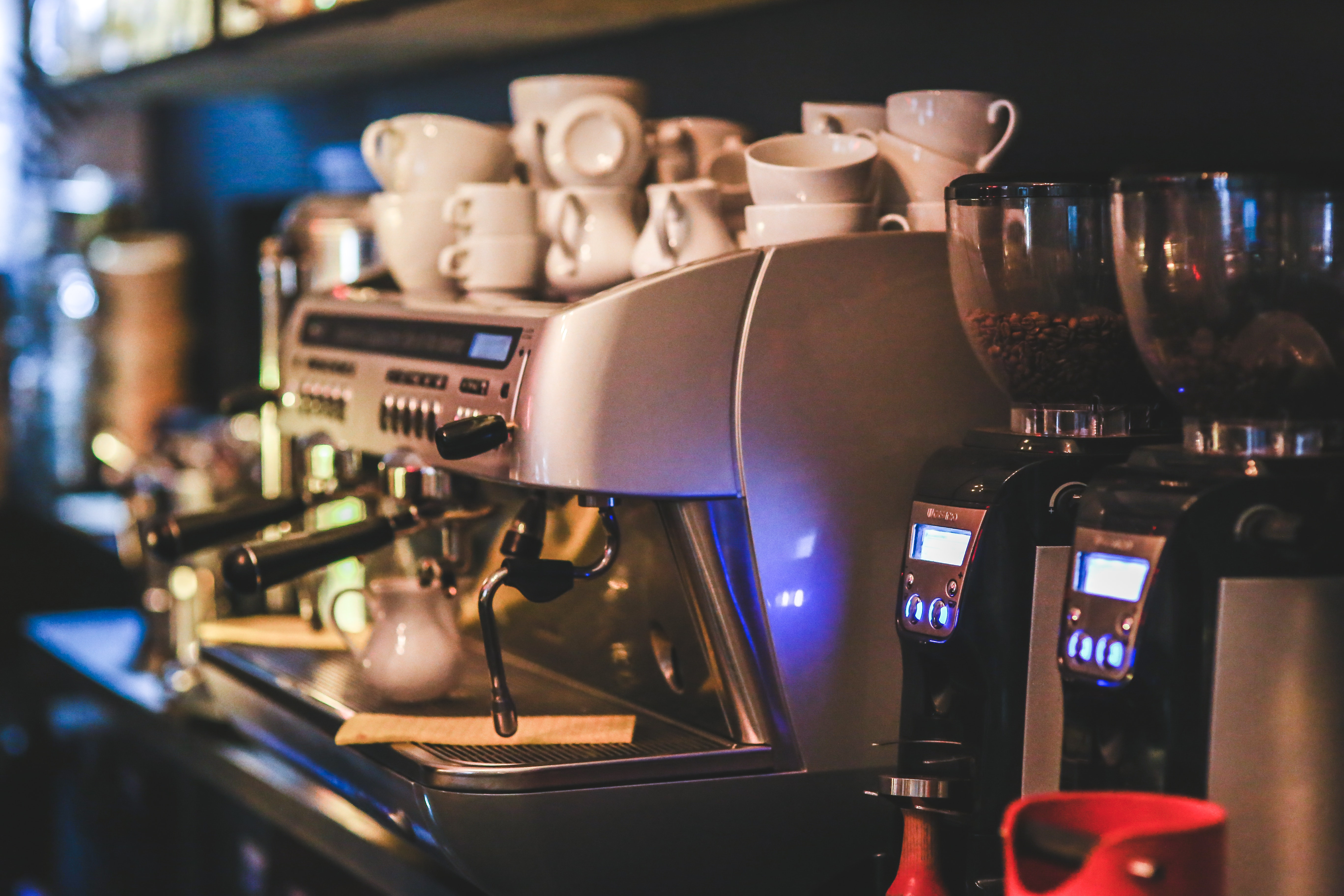 Professional coffee machine restaurant photo