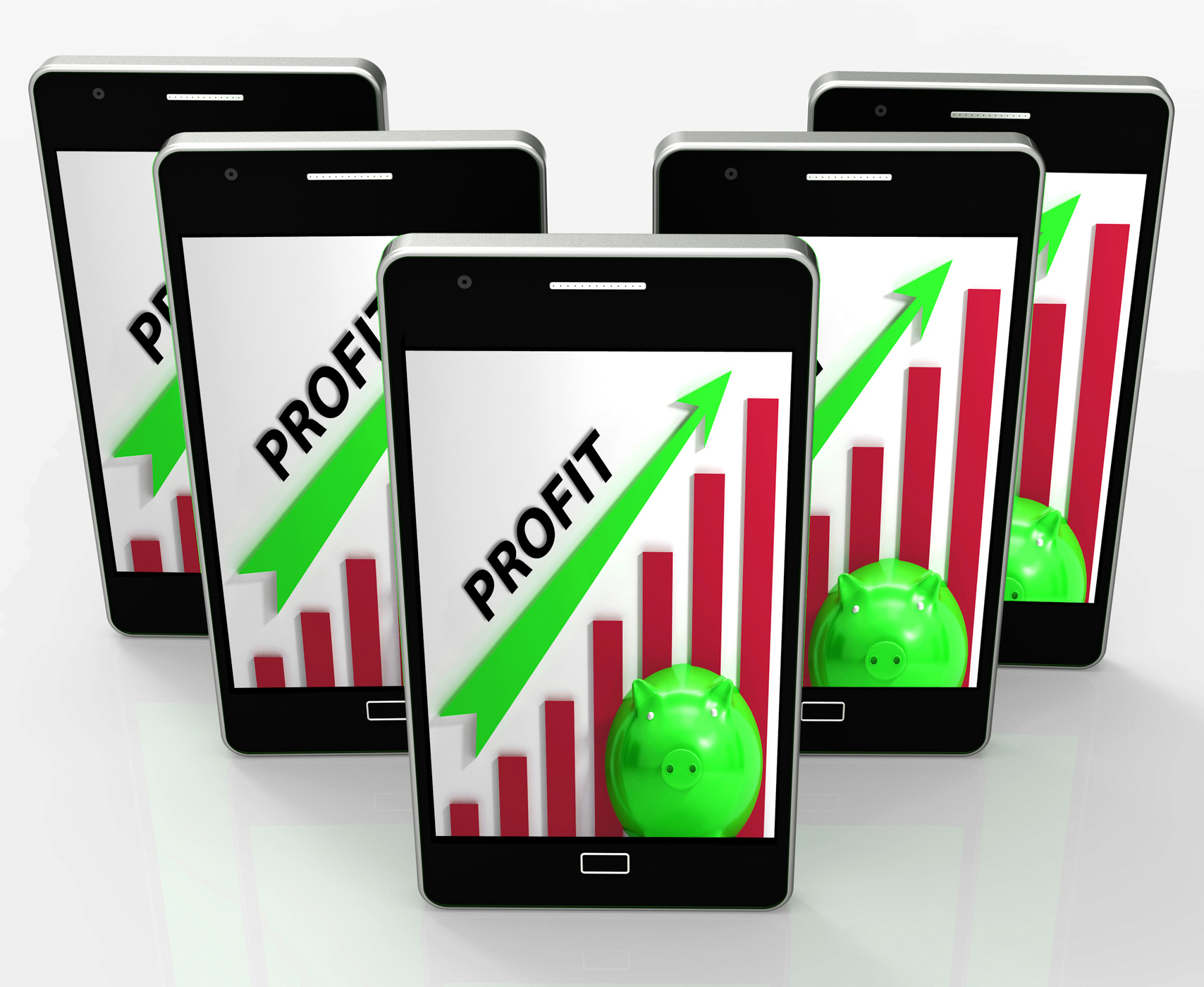 Profit Graph Phone Shows Sales Revenue And Return, Acquire, Profit, Web, Surplus, HQ Photo