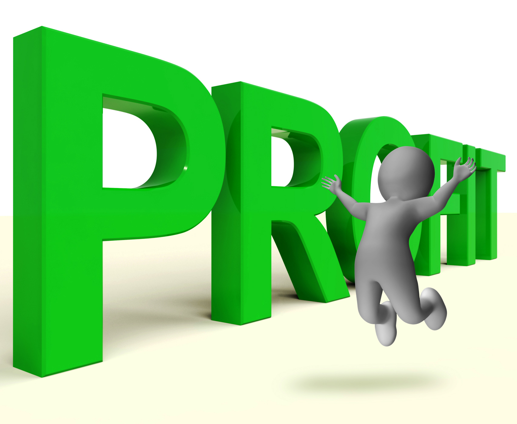 Profit word represents market and trade earnings photo