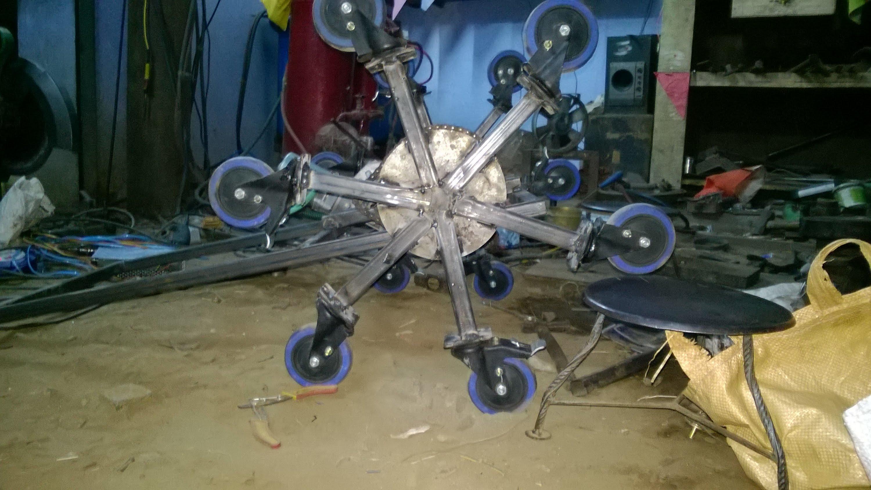 stair climbing wheelchair mechanism mechanical project - YouTube