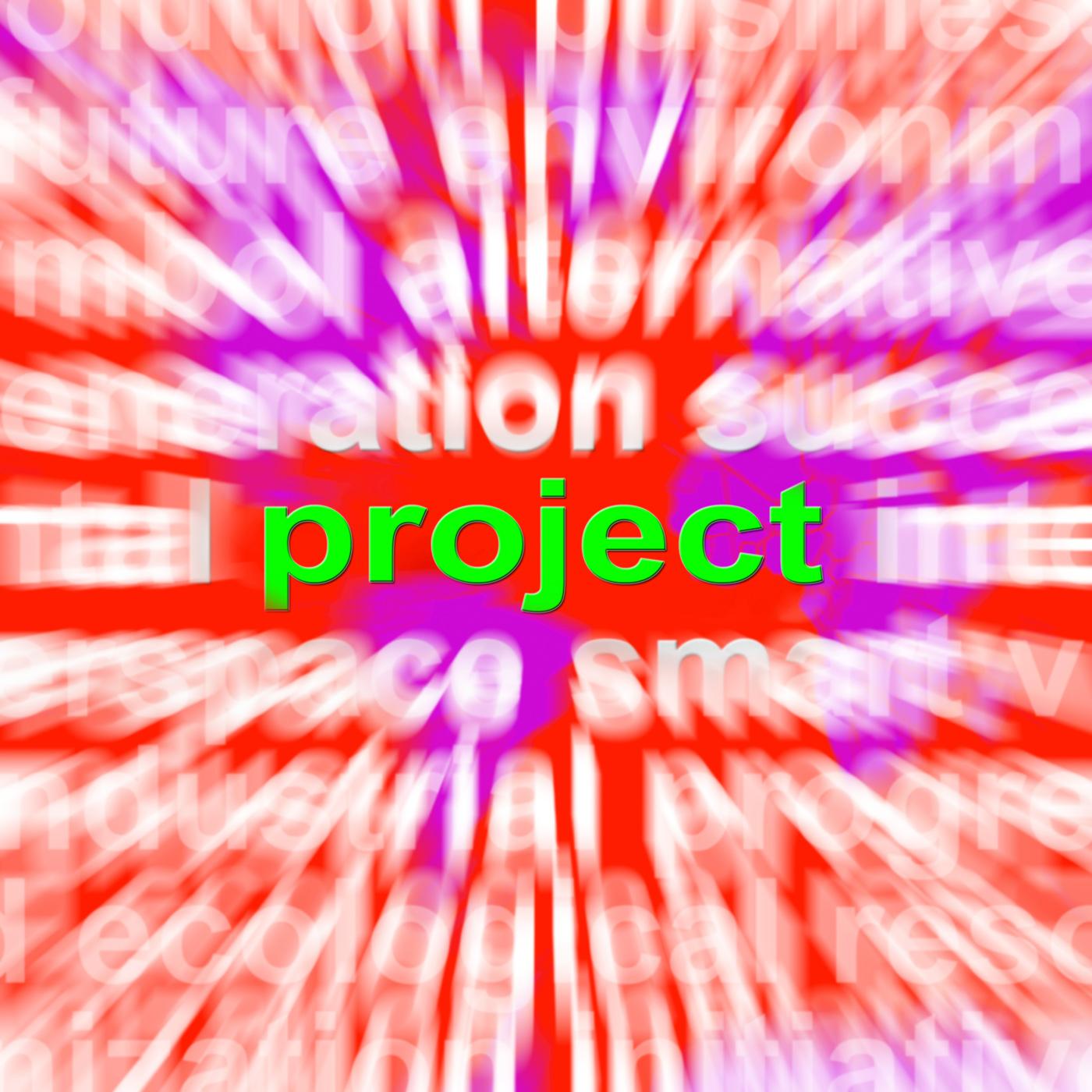Project Word Cloud Shows Plan Mission Or Task, Activity, Enterprise, Idea, Map, HQ Photo