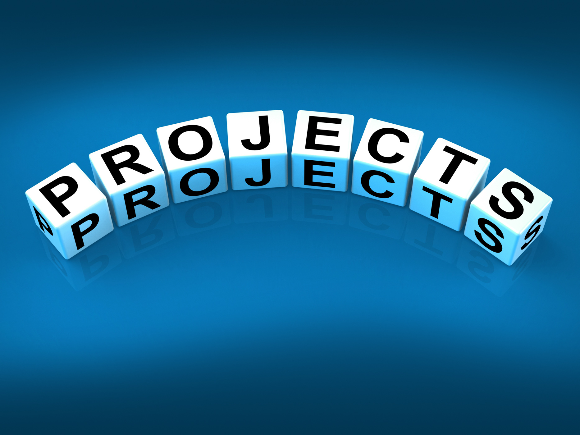 Projects blocks represent ideas activities tasks and enterprises photo