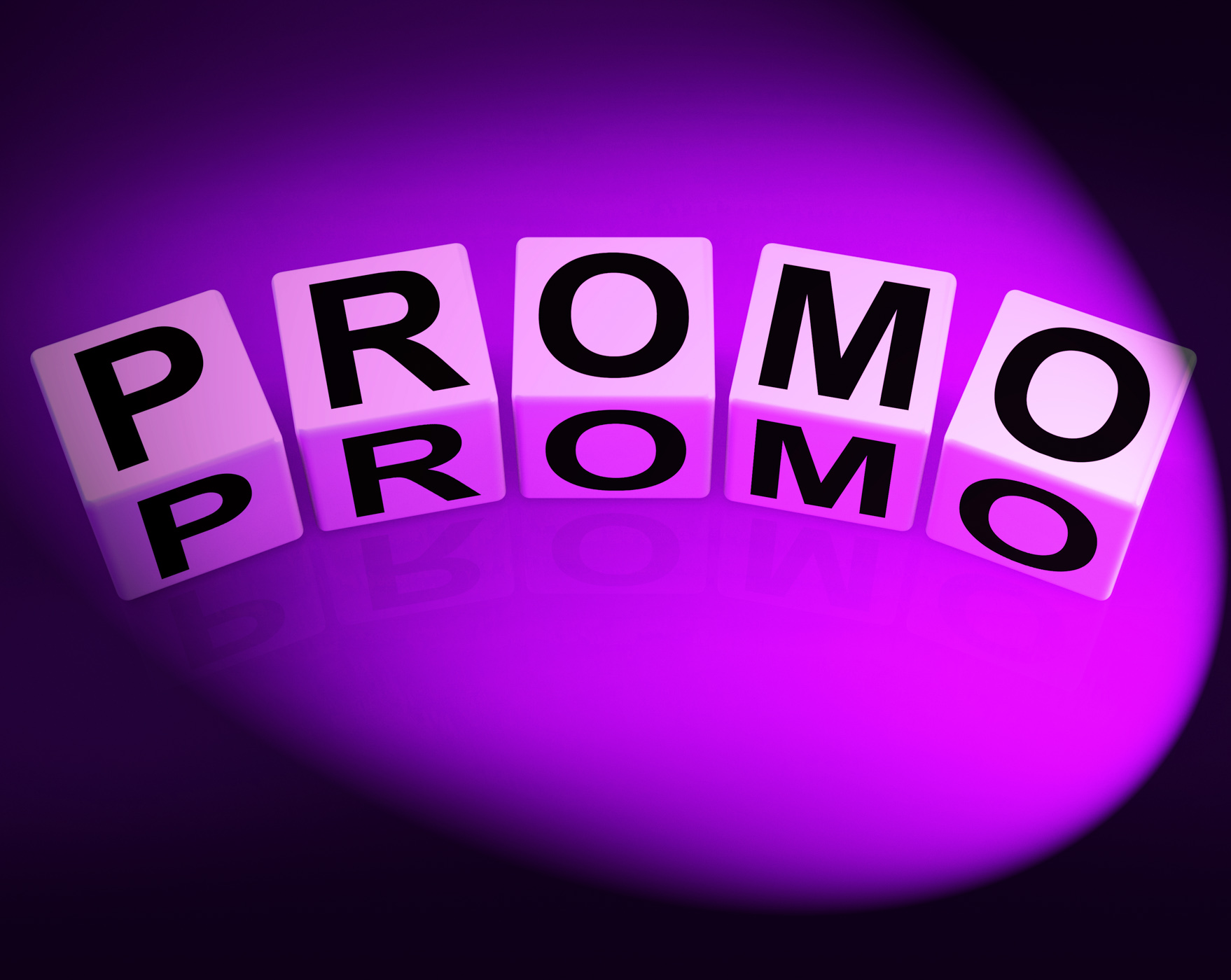 Promo dice show advertisement and broadcasting promotions photo