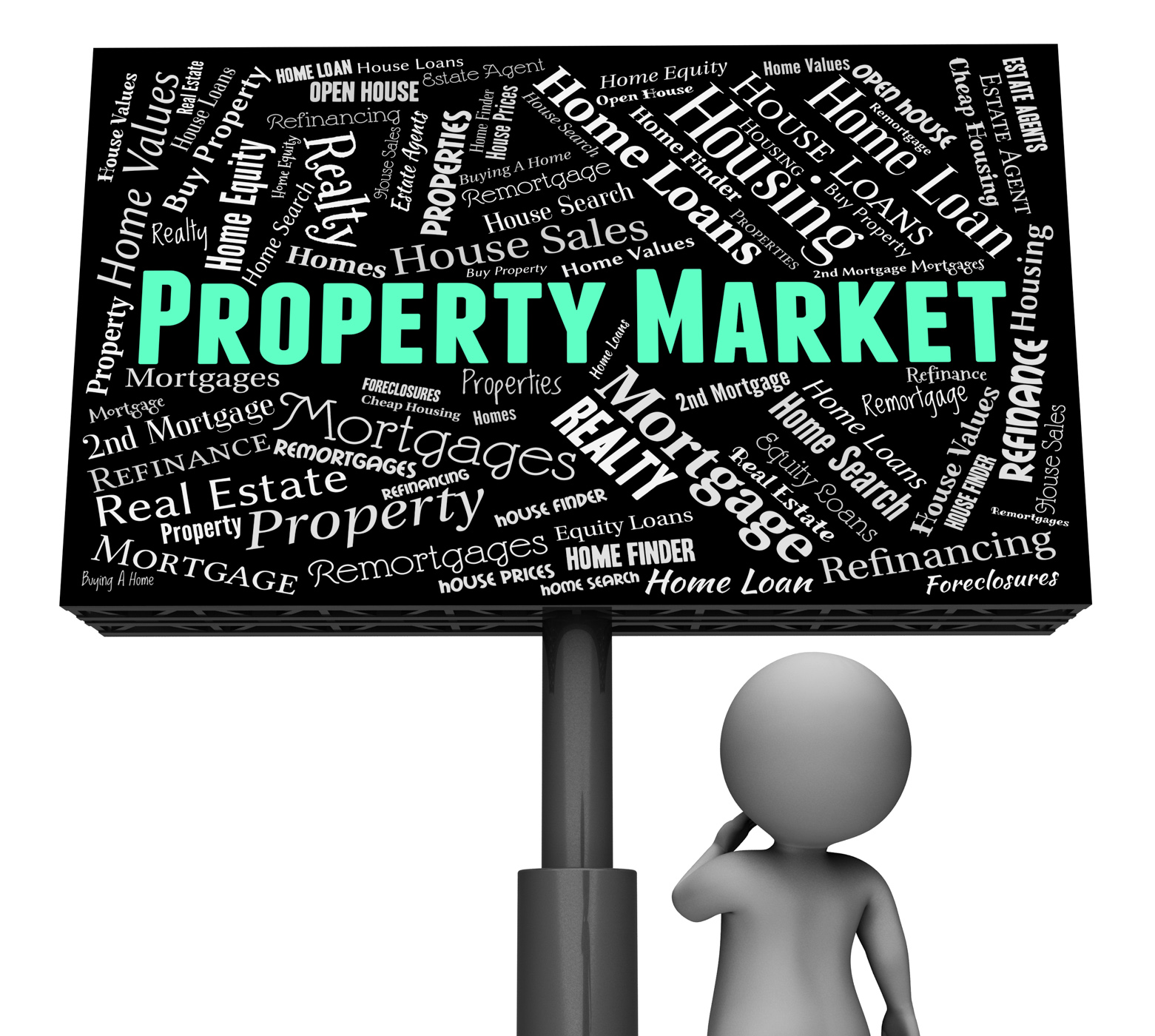 Property market indicates for sale and apartments photo